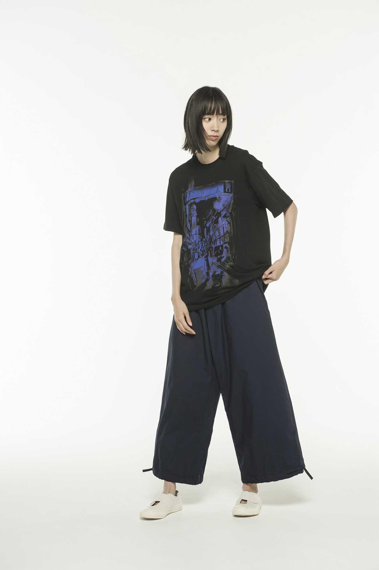 20 /纯棉针织Yohji的起源Omoide Yokocho由Yasuto Sasada T恤