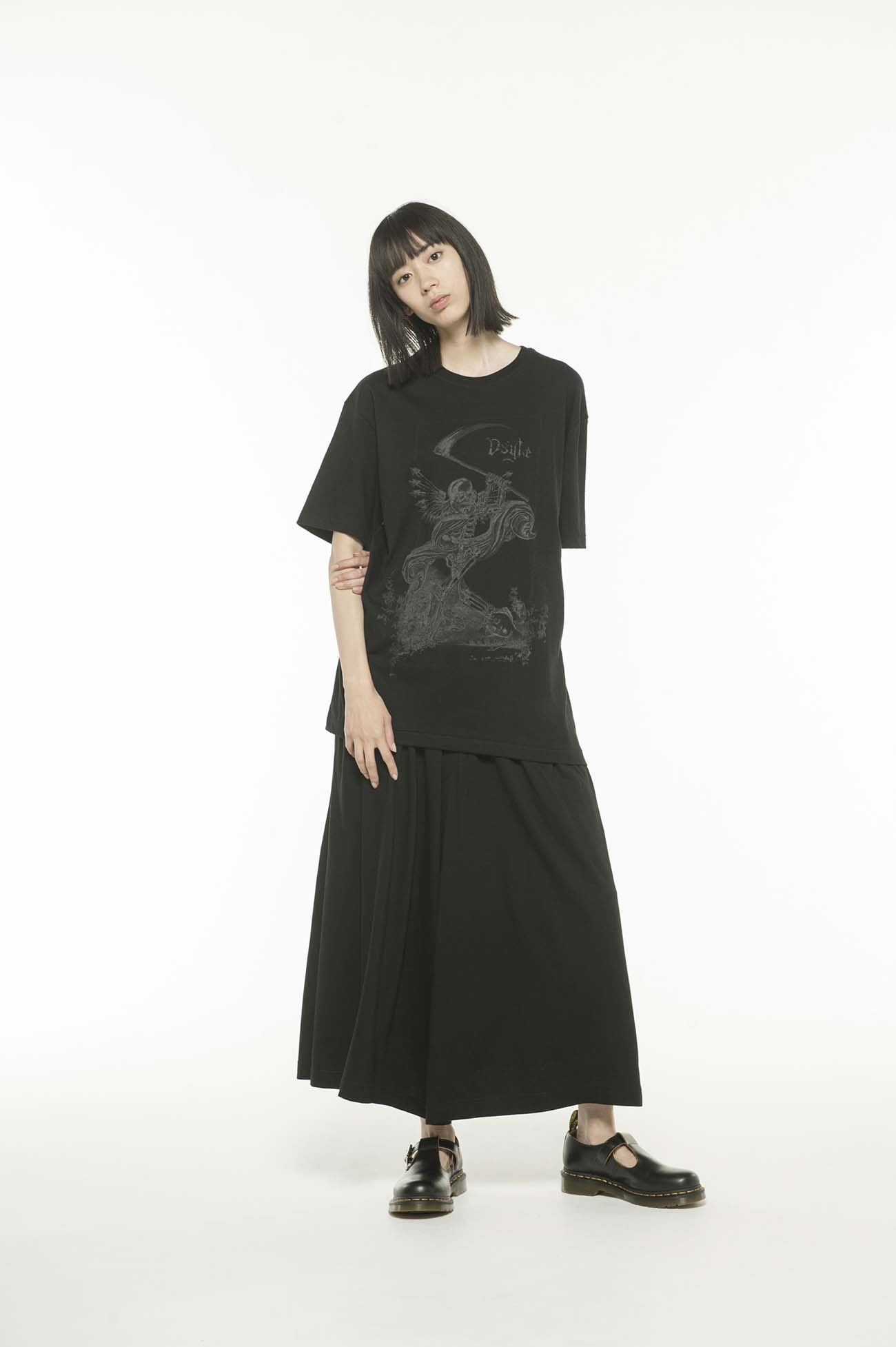 20/CottonJersey Ds'yte Metal Skull T-Shirt