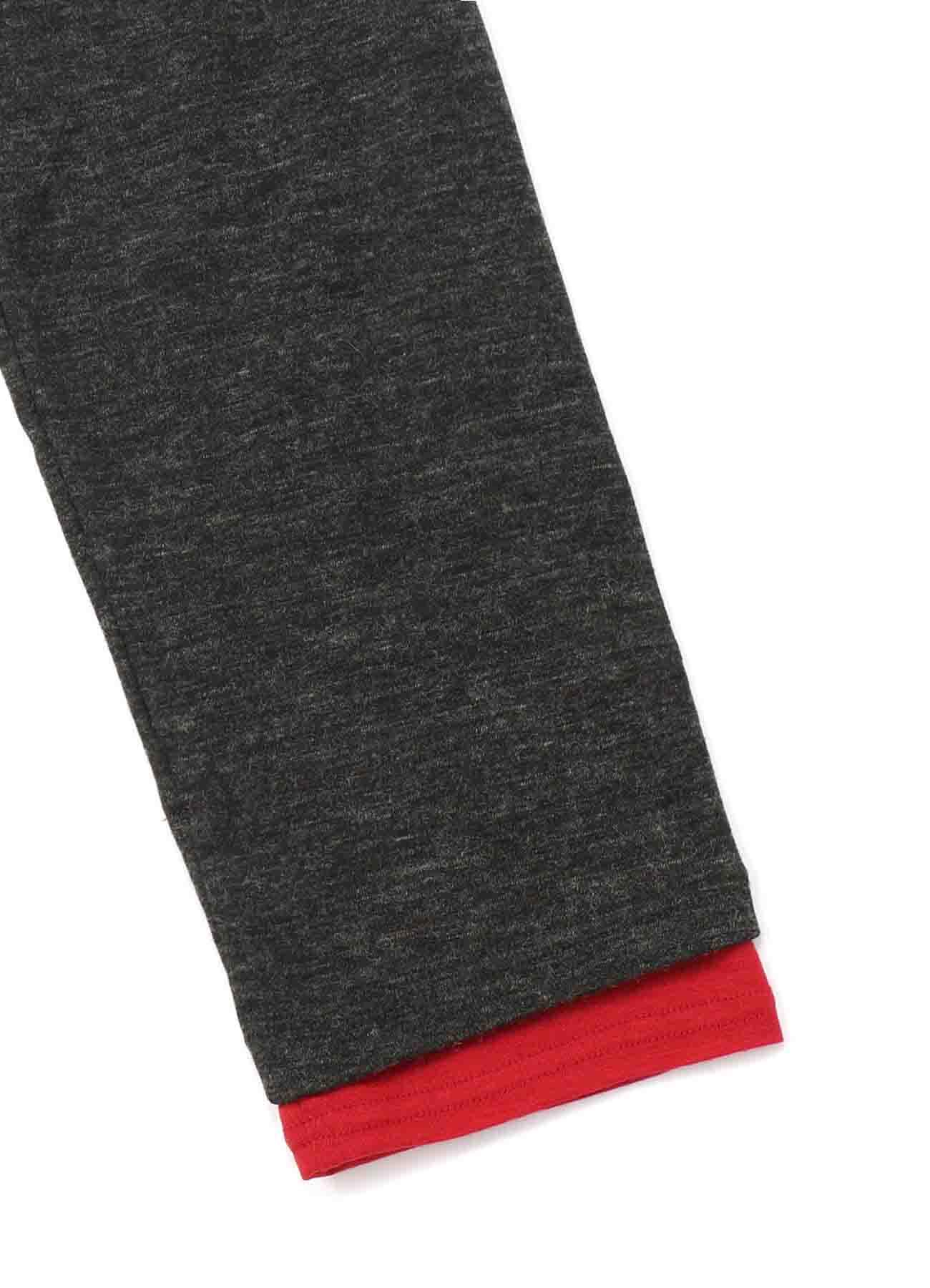 Wool Acrylic Jersey Crew Panel Color Slit