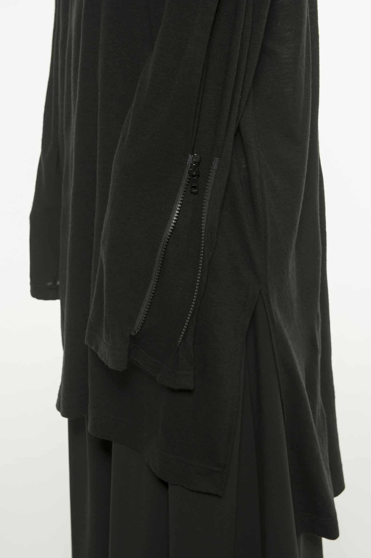羊毛混纺袖口拉链上衣