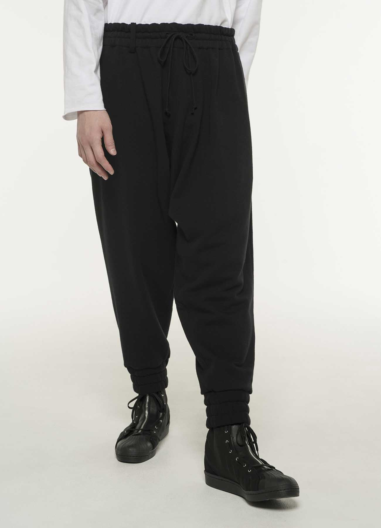 French Terry Stitch Work Sarrouel Rib Pants
