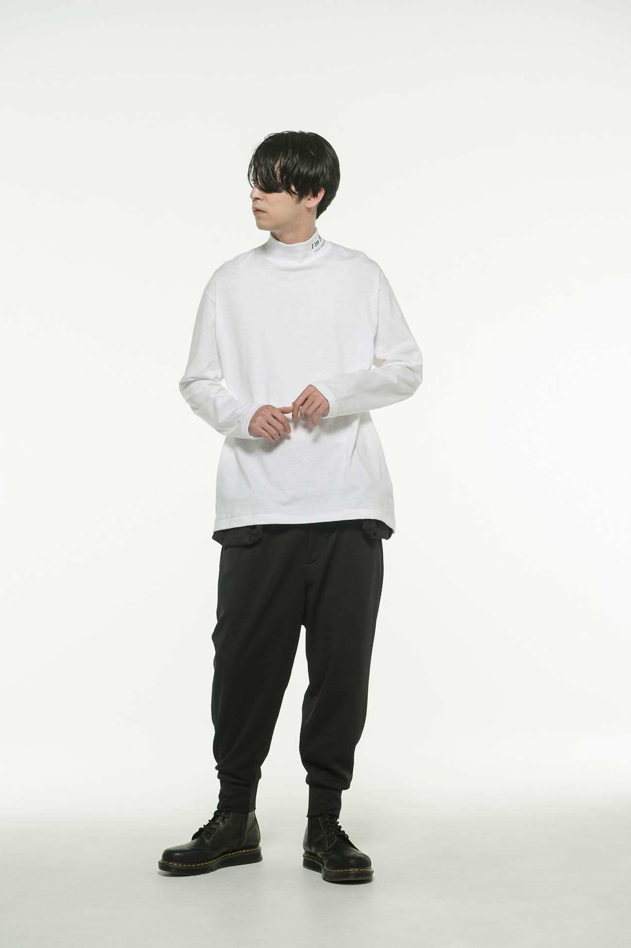 20/CottonJersey「I'm Free」High Neck T-Shirt