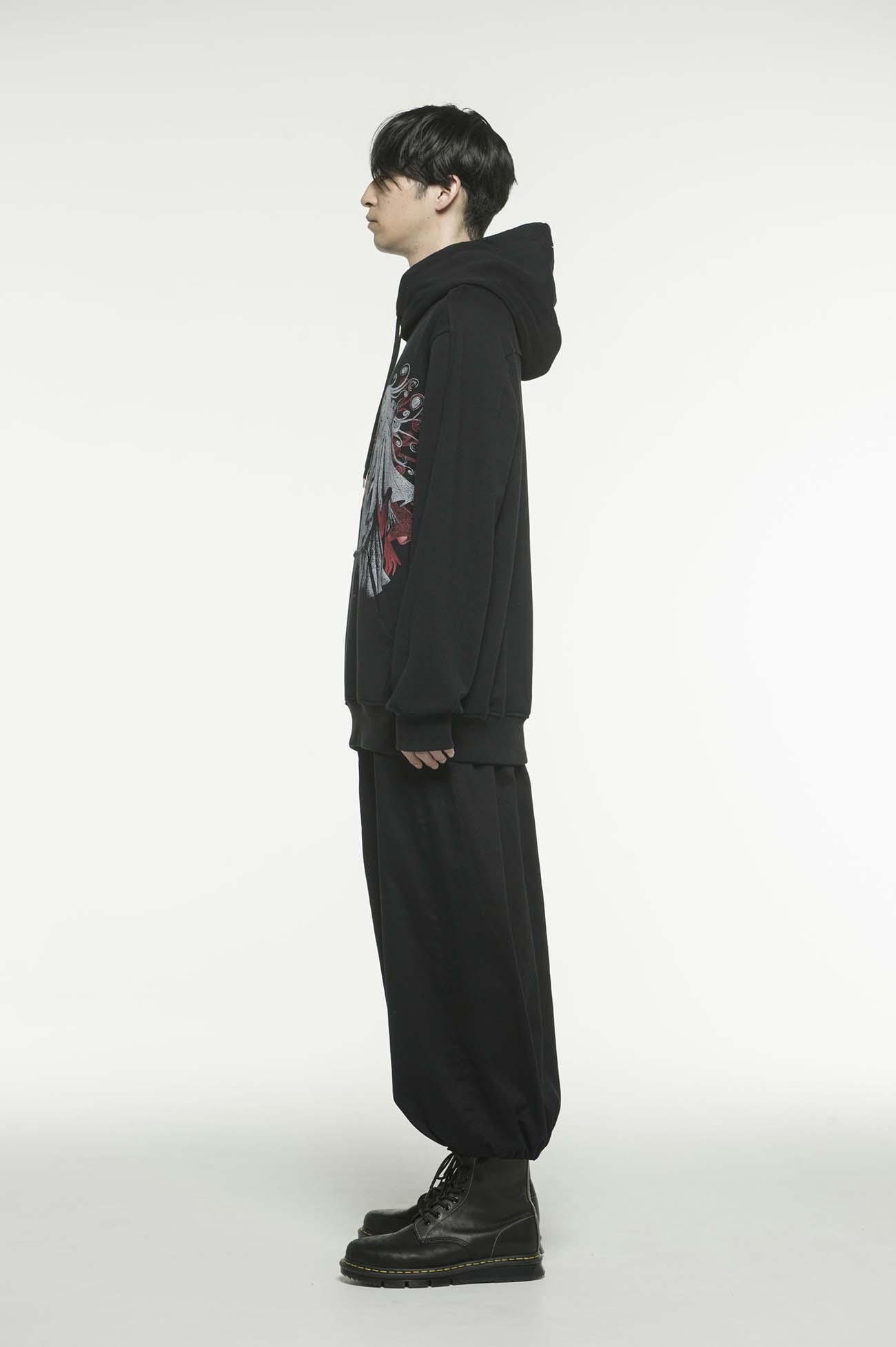 French Terry Stitch Work Kirie Uzumaki Wearing Yohji Yamamoto Hoodie