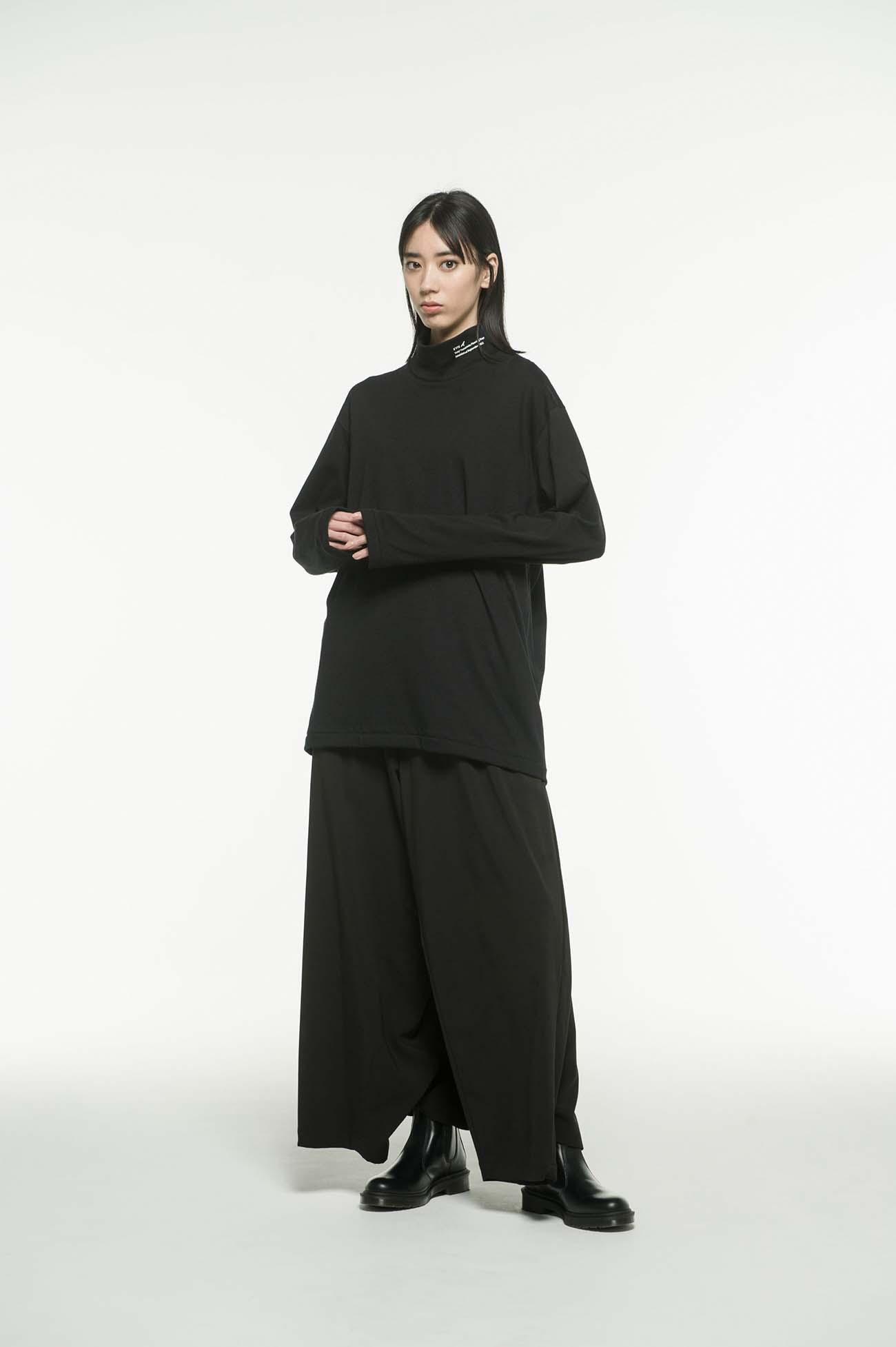 提花针织衫-黑/白