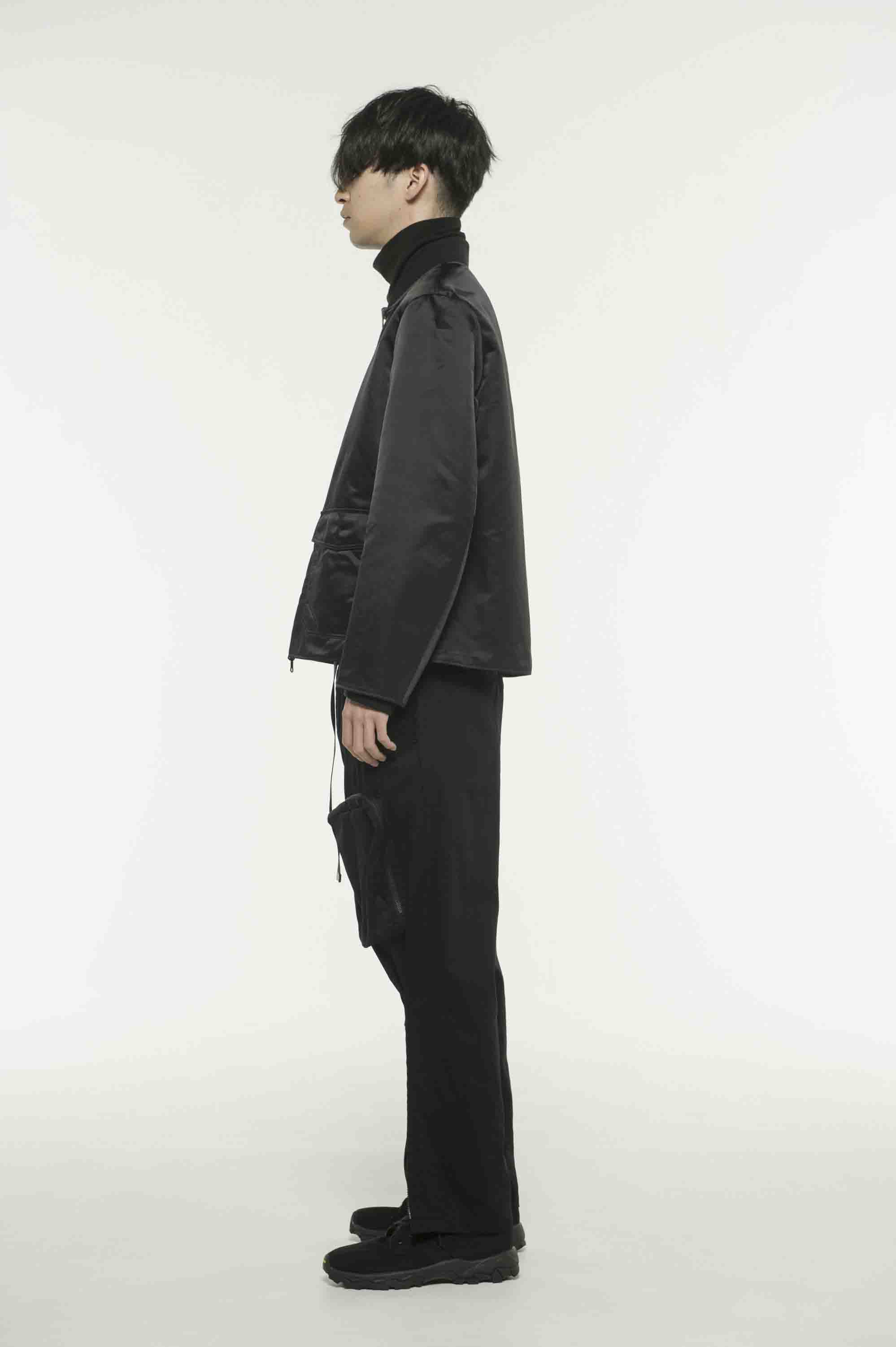 Nylon Twill Reversible Gourd Quilted Blouson