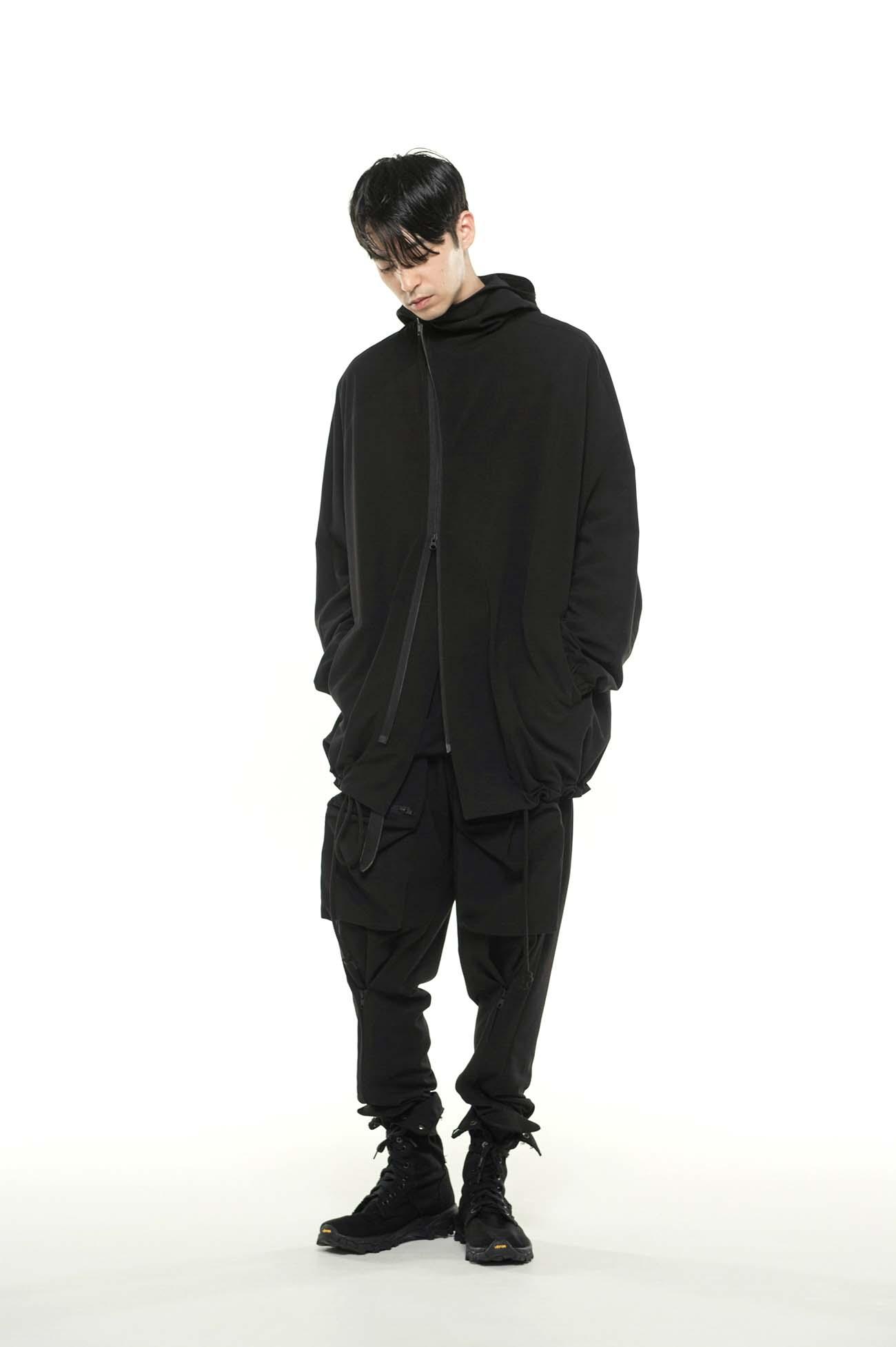 Pe/Rayon Gabardine Stretch Diagonal Zip Shell Jacket