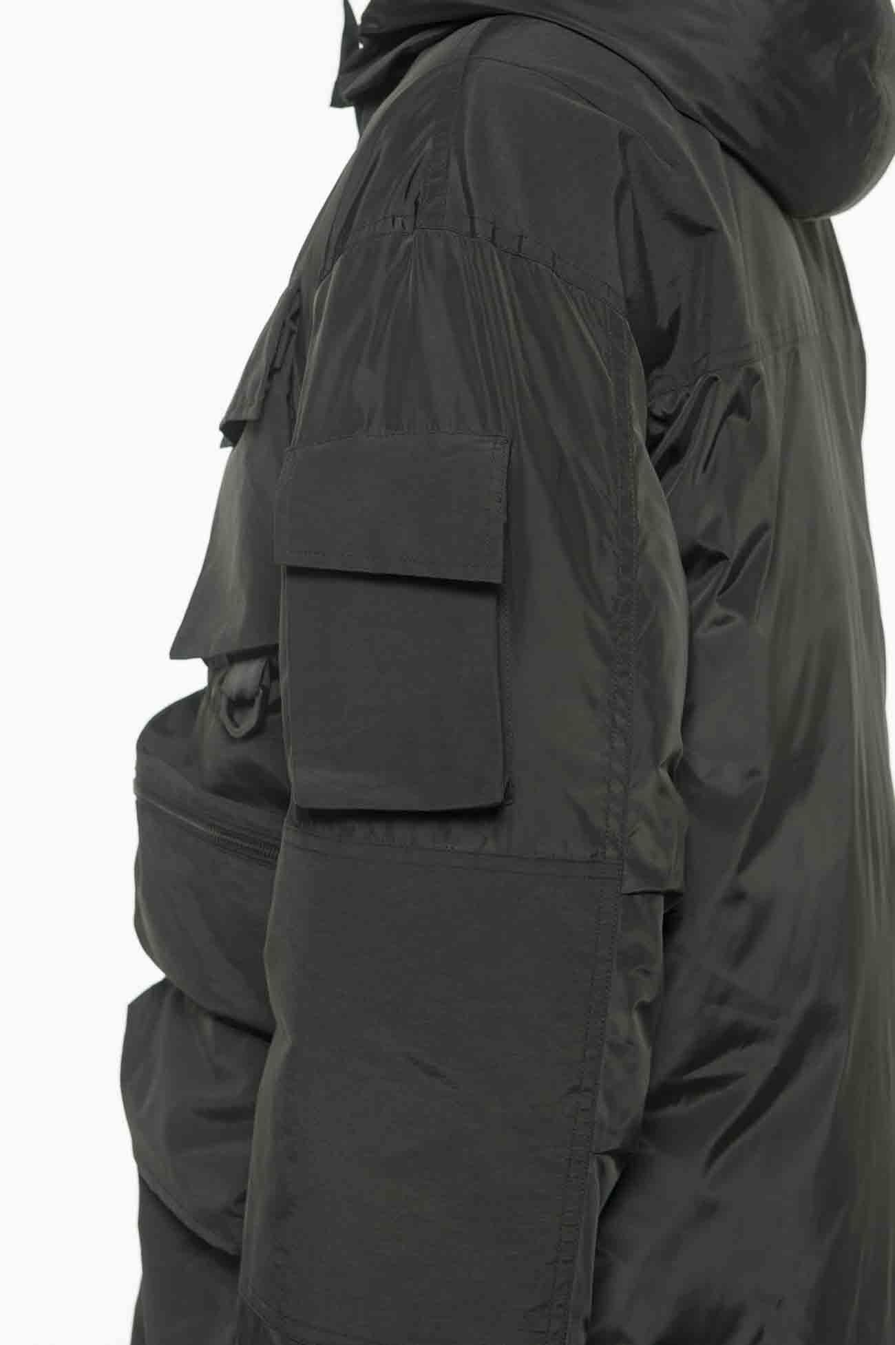 C/N Grosgrain Tactical Hood Down Jacket