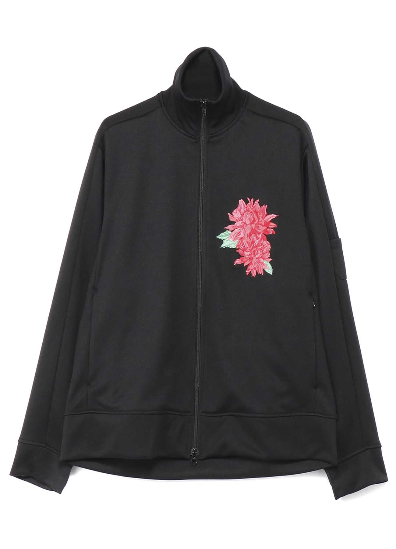 Pe/Smooth Jersey Dahlia Flower Embroidery Track Jacket