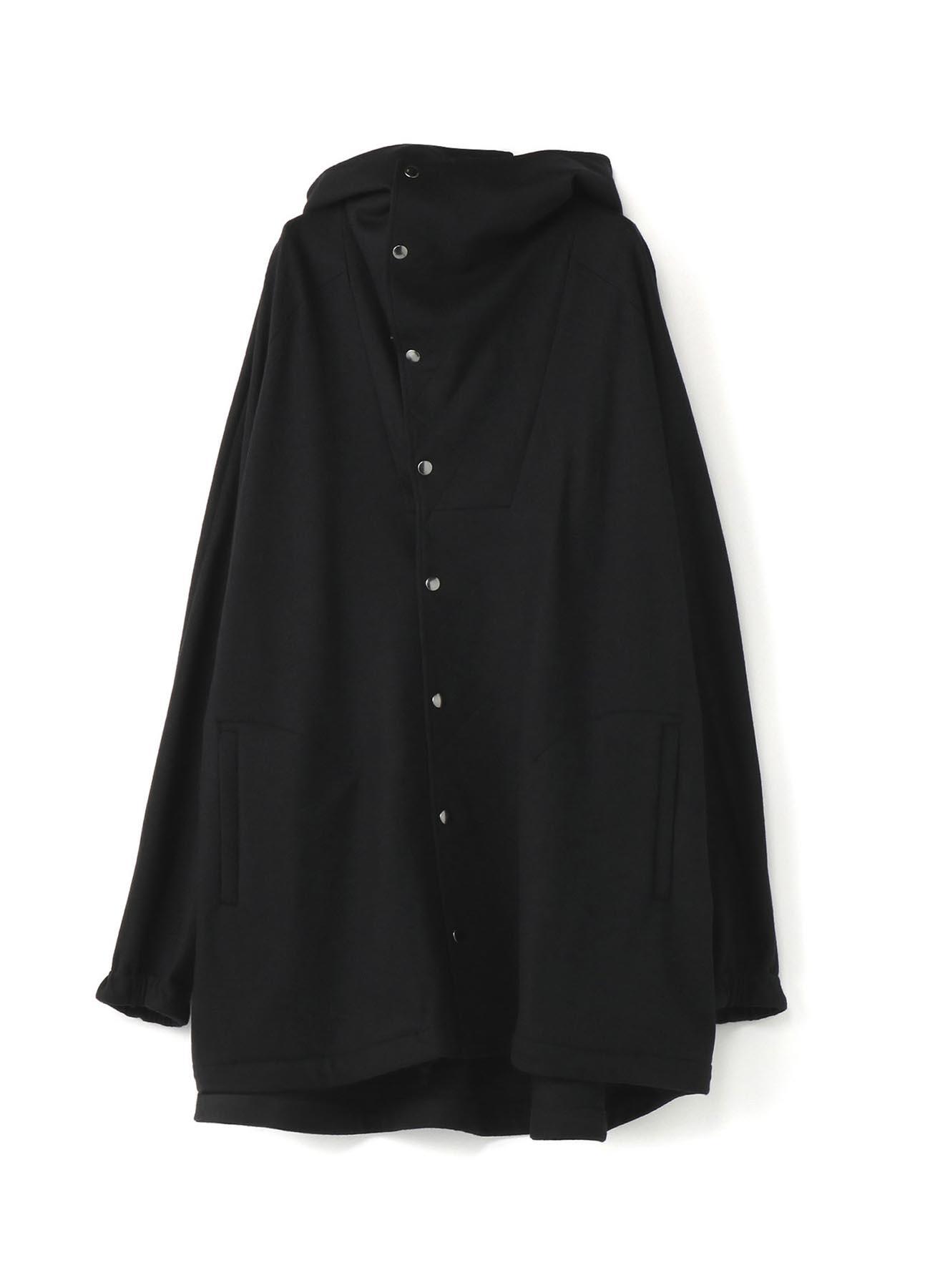 压缩羊毛大敞篷夹克