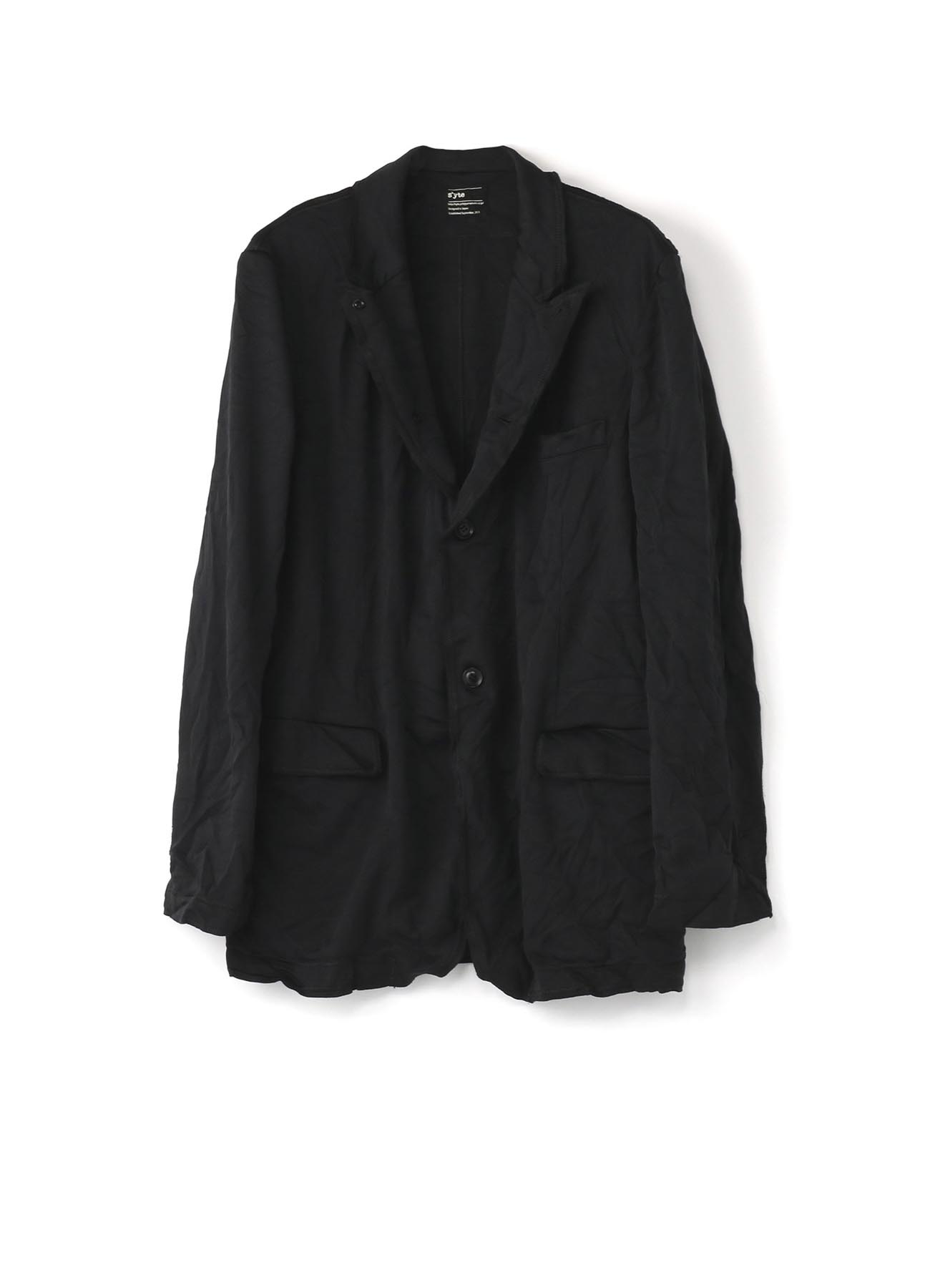 Wrinkled Jersey Tailored Jacket