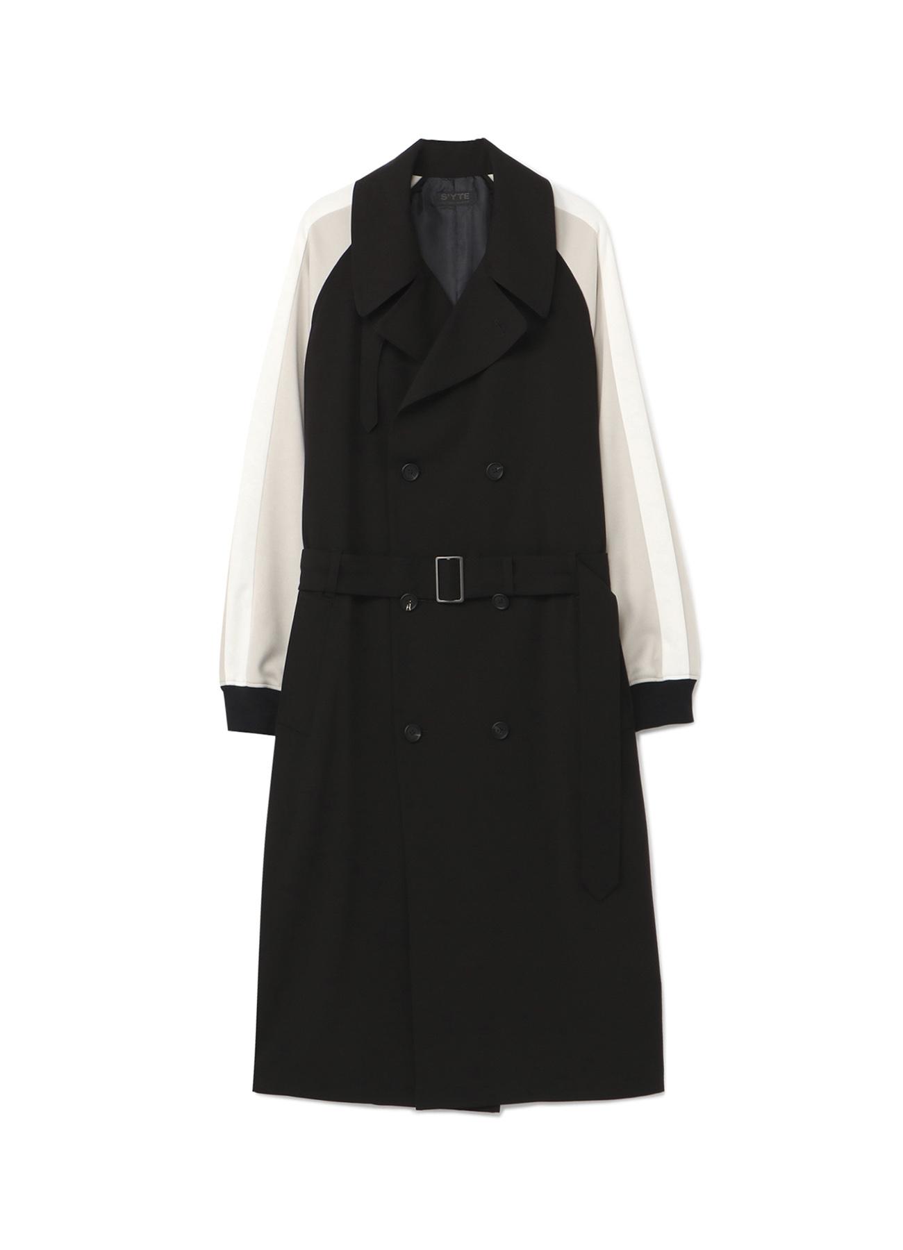 Pe/Rayon Gabardine Stretch Jersey Sleeve Trench Coat