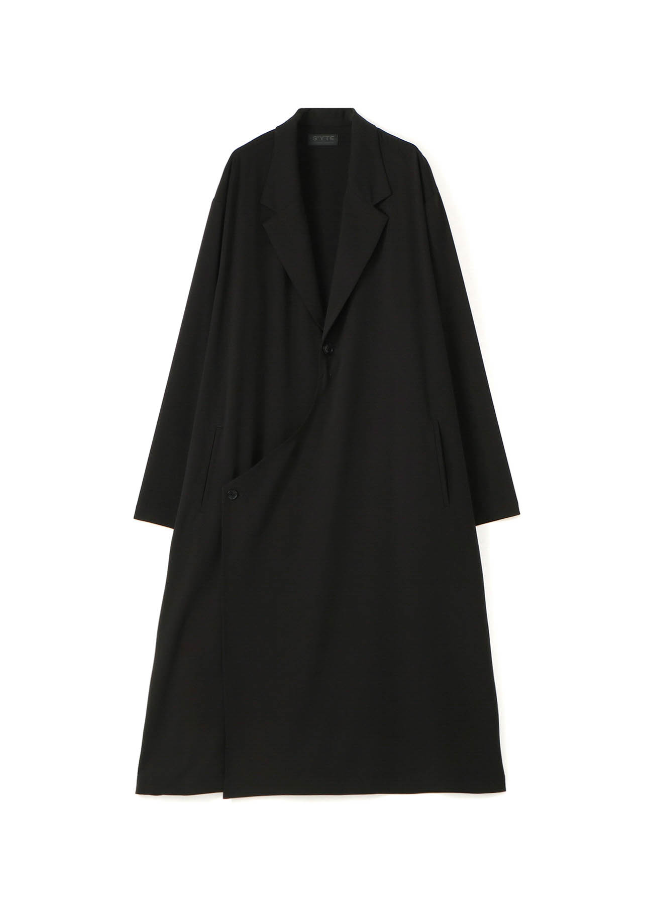 Pe/Rayon Gabardine Stretch Tailored Wrap Dress