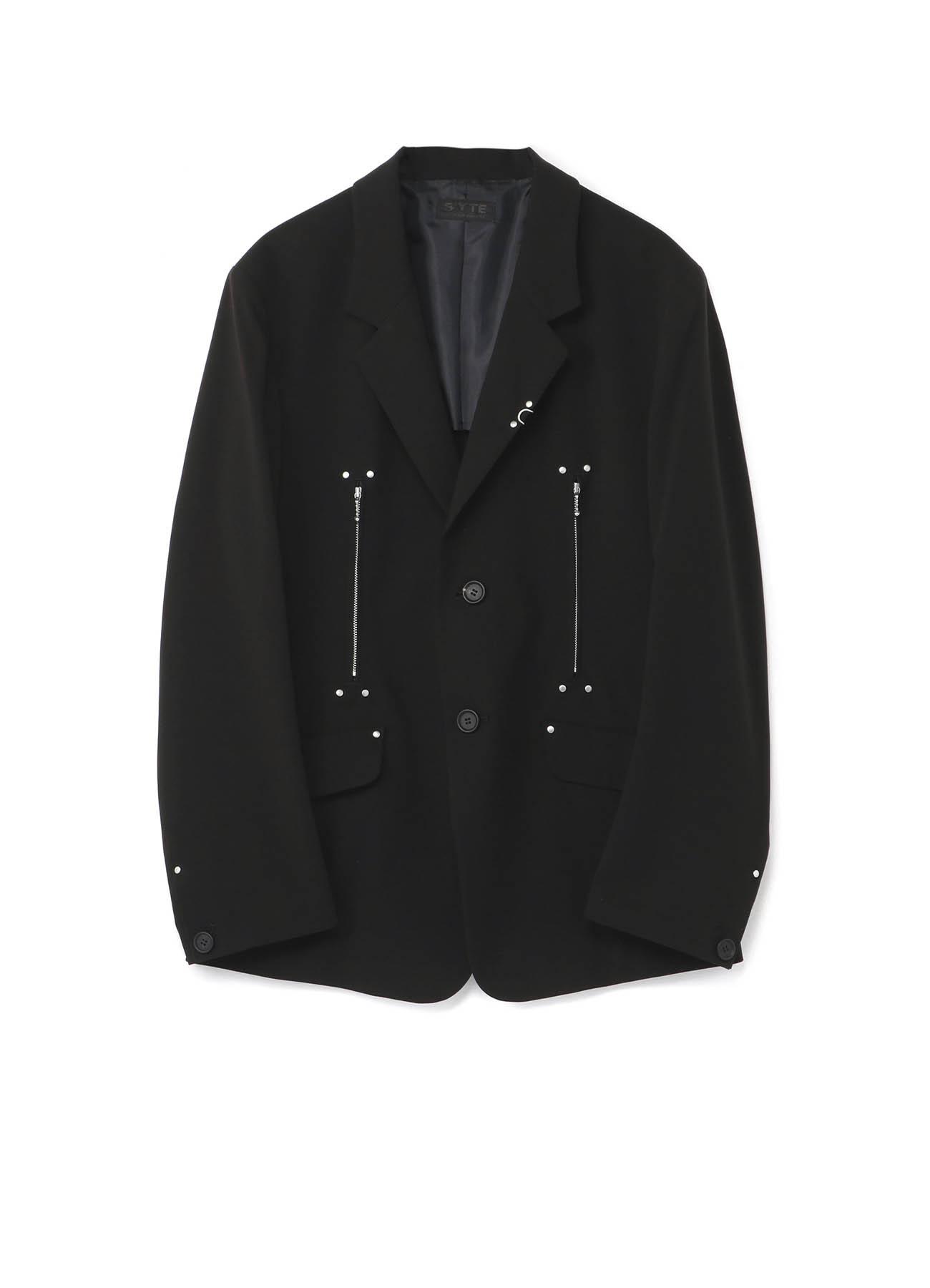 Pe/Rayon Gabardine Stretch 2BS Studs Jacket