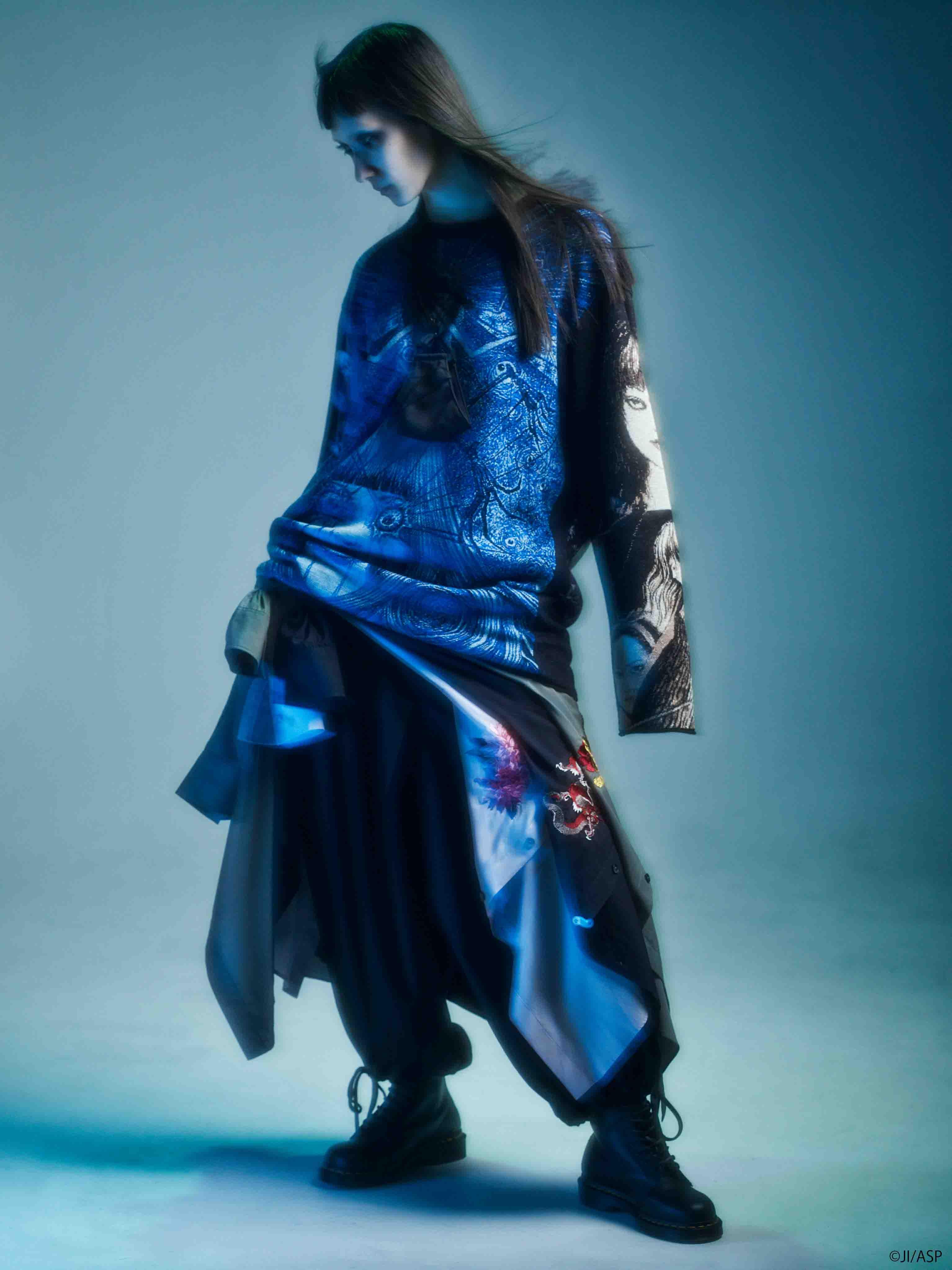 Junji ITO Twisted Visions Hameauze Jacquard Crew Neck Pullover