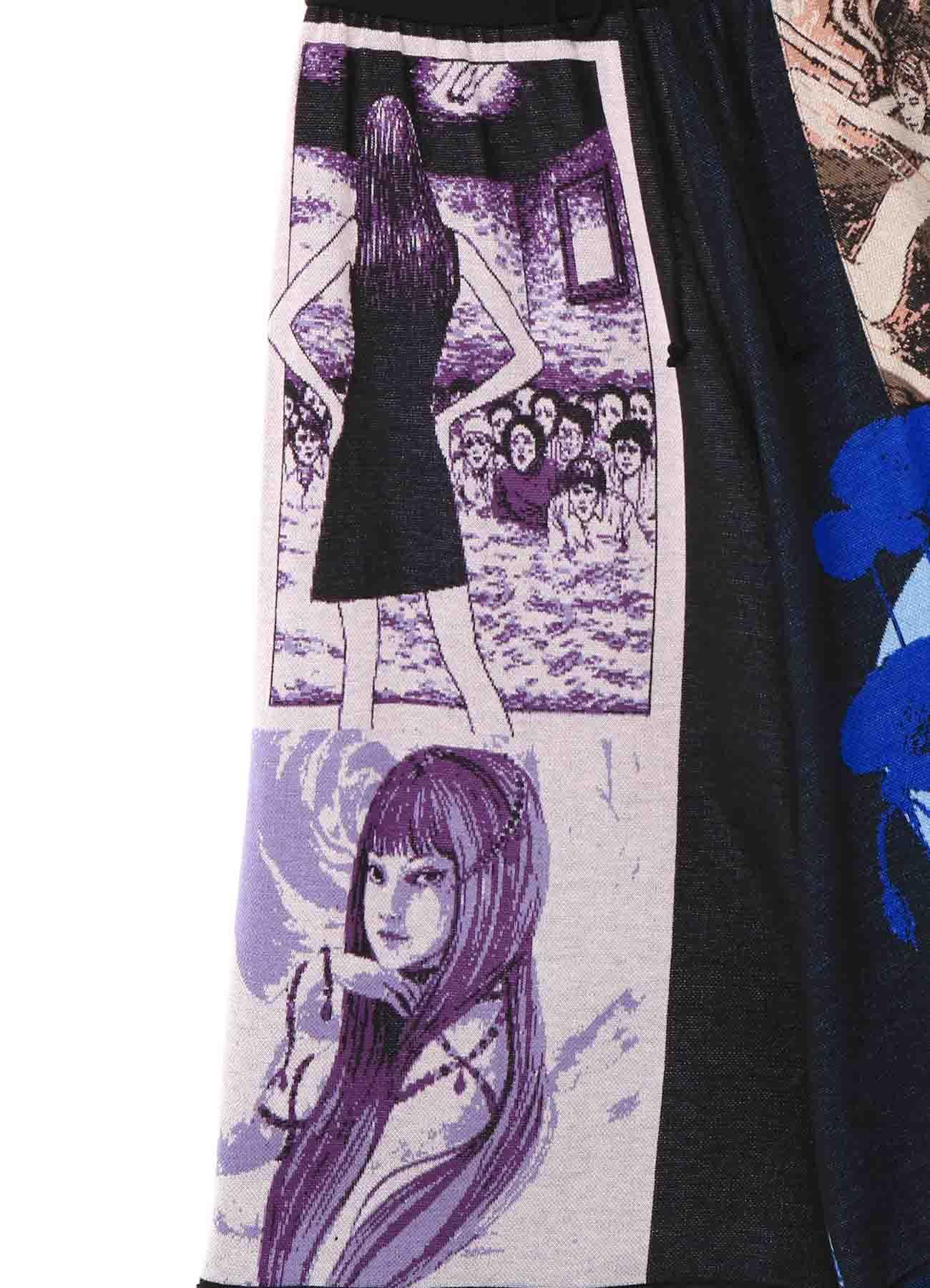 Junji ITO Twisted Visions/Tomie Hameauze Jacquard Culottes Pants