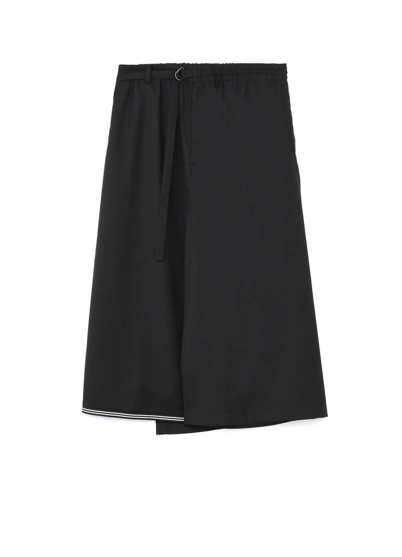 T/W Gabardine Sailor Back Wrap Culottes Pants