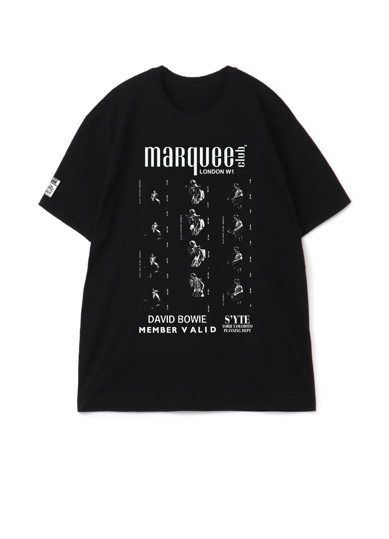 S'YTE × marquee club(R) 1973 Film Ziggy T-shirt