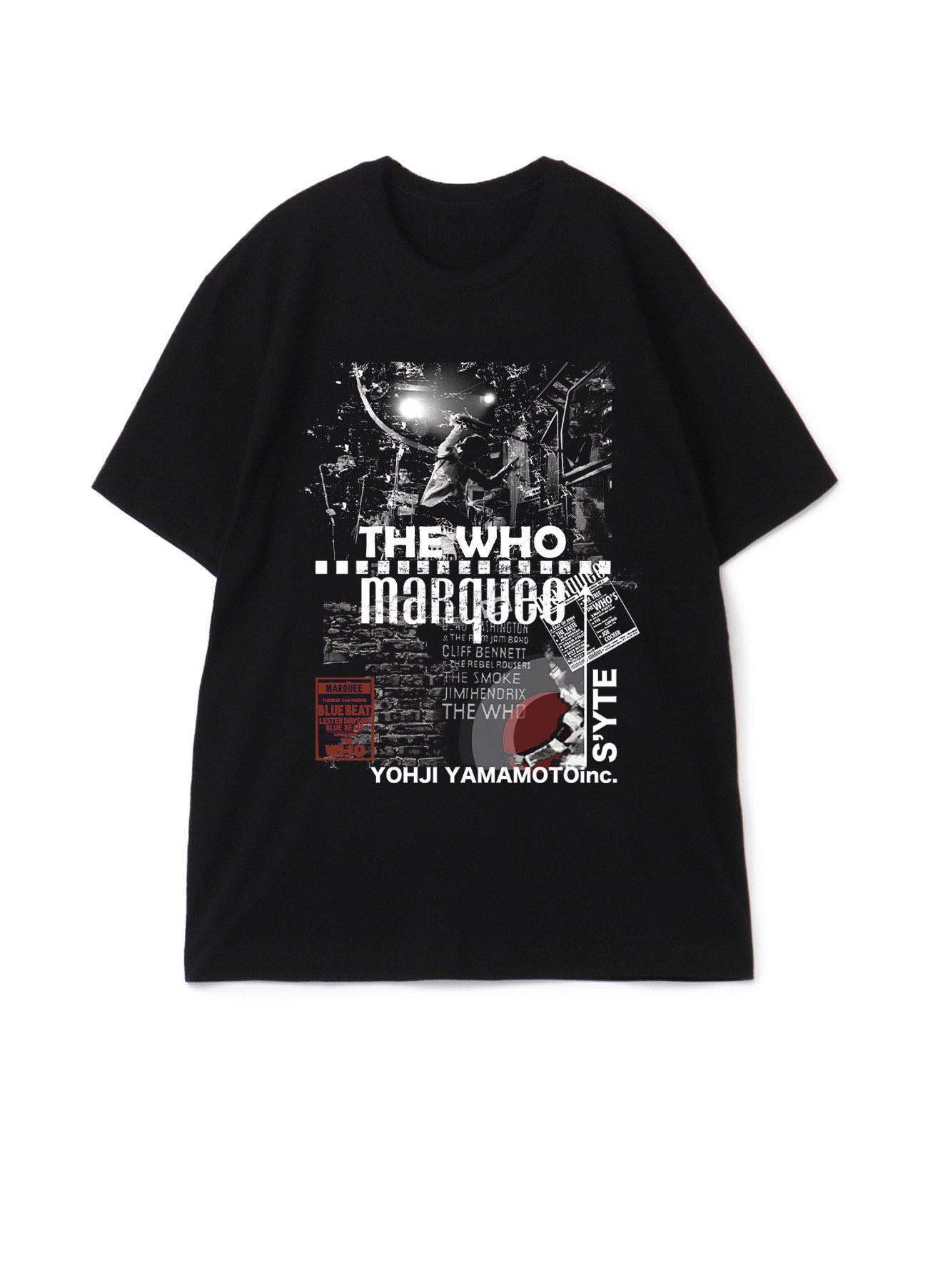 S'YTE × marquee club(R) Break The Instrument T-shirt
