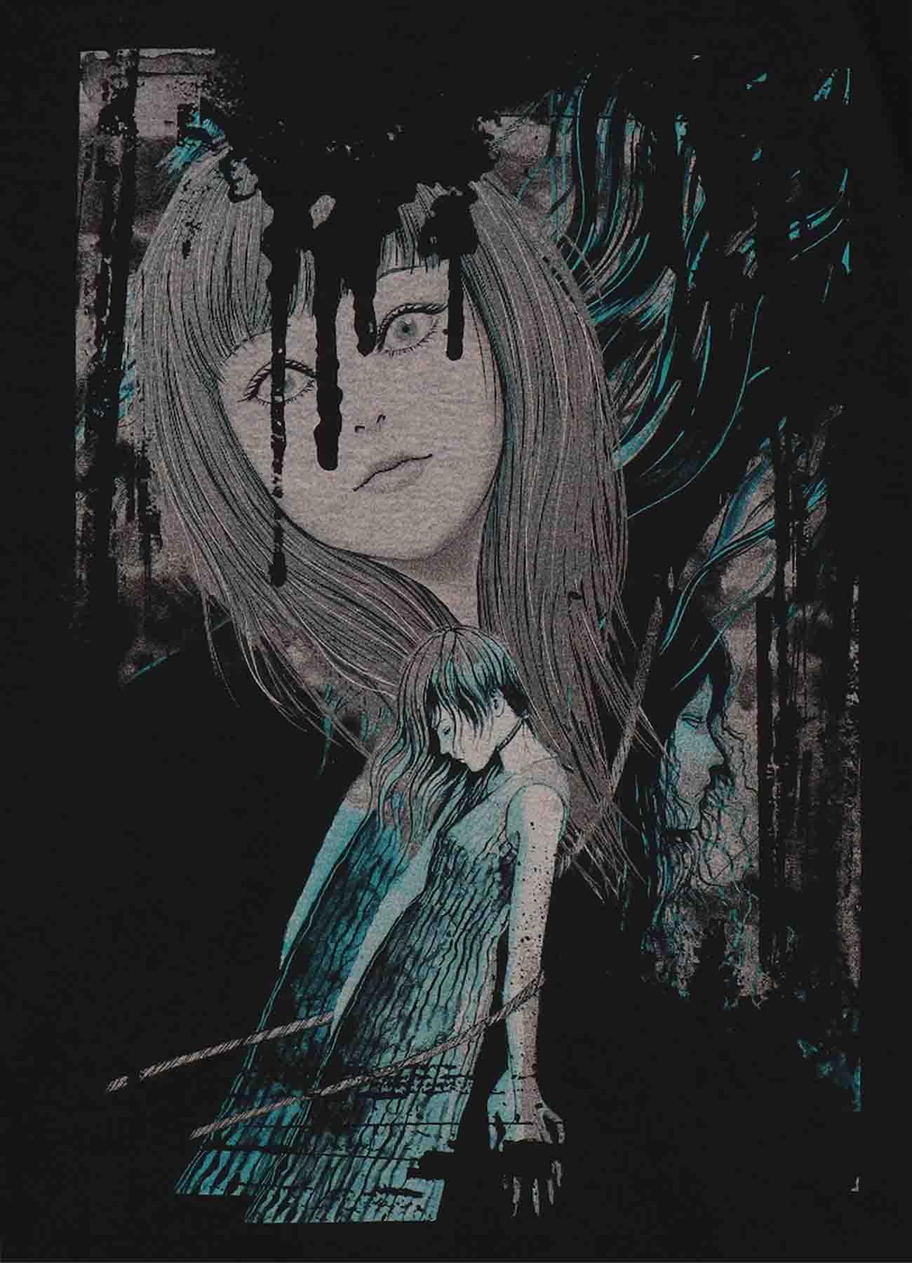 "Junji ITO ""Twisted Visions/Tomie"" Hanging Blimp T-shirt"