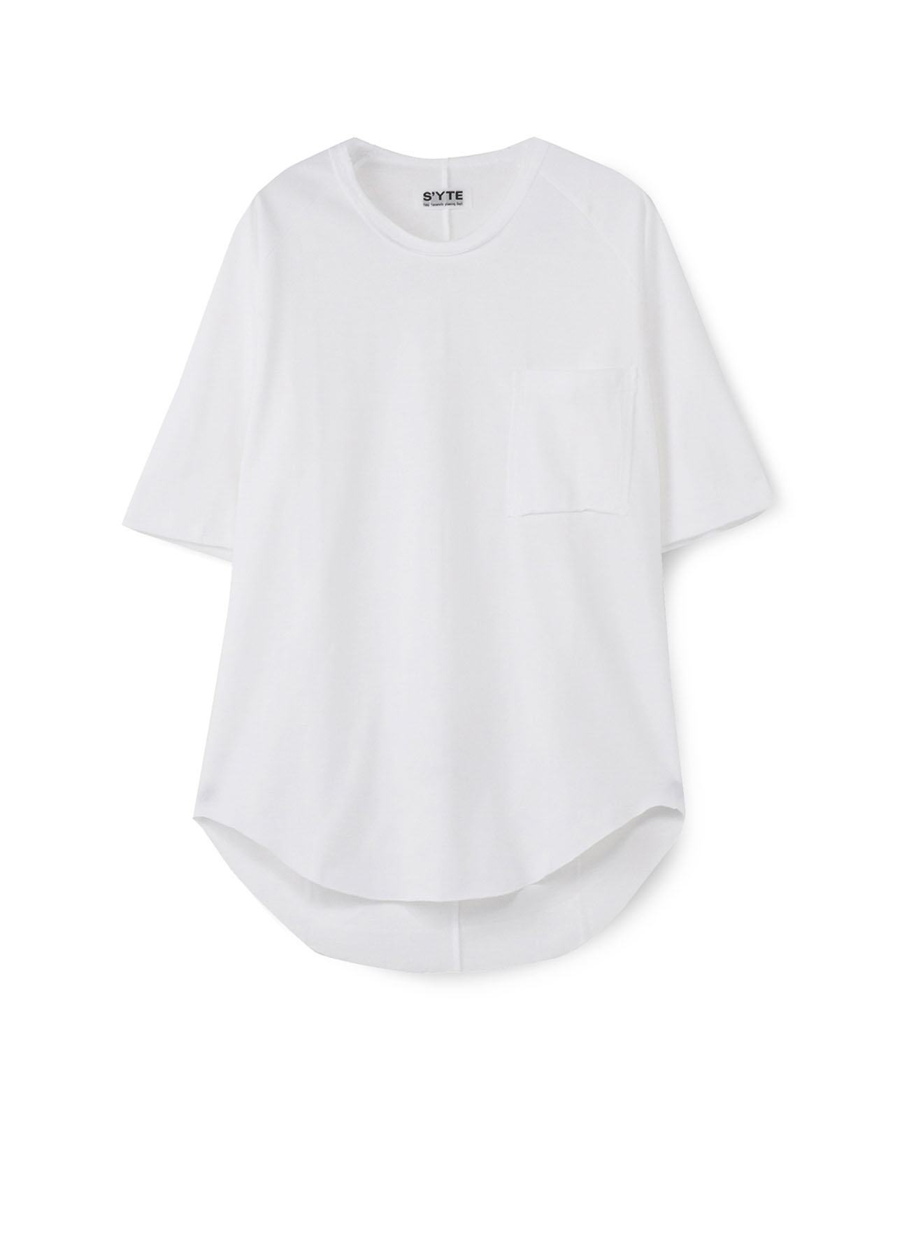 40/2 Jersey Raglan Big Pocket Crew neck T