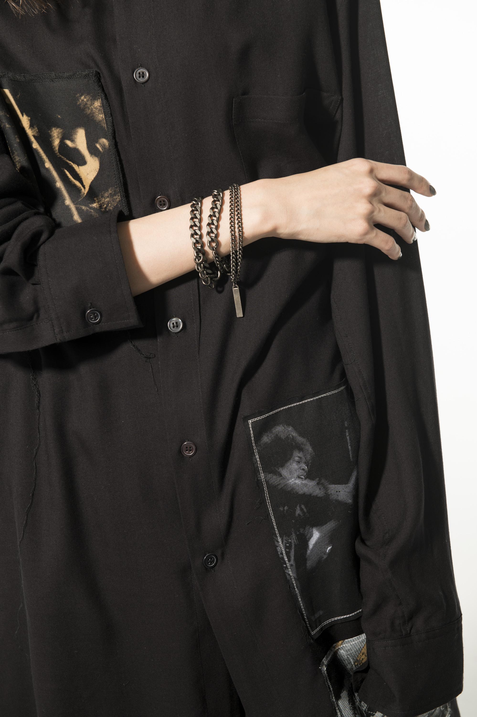 Brass 6-way Curved Chain Bracelet Necklace