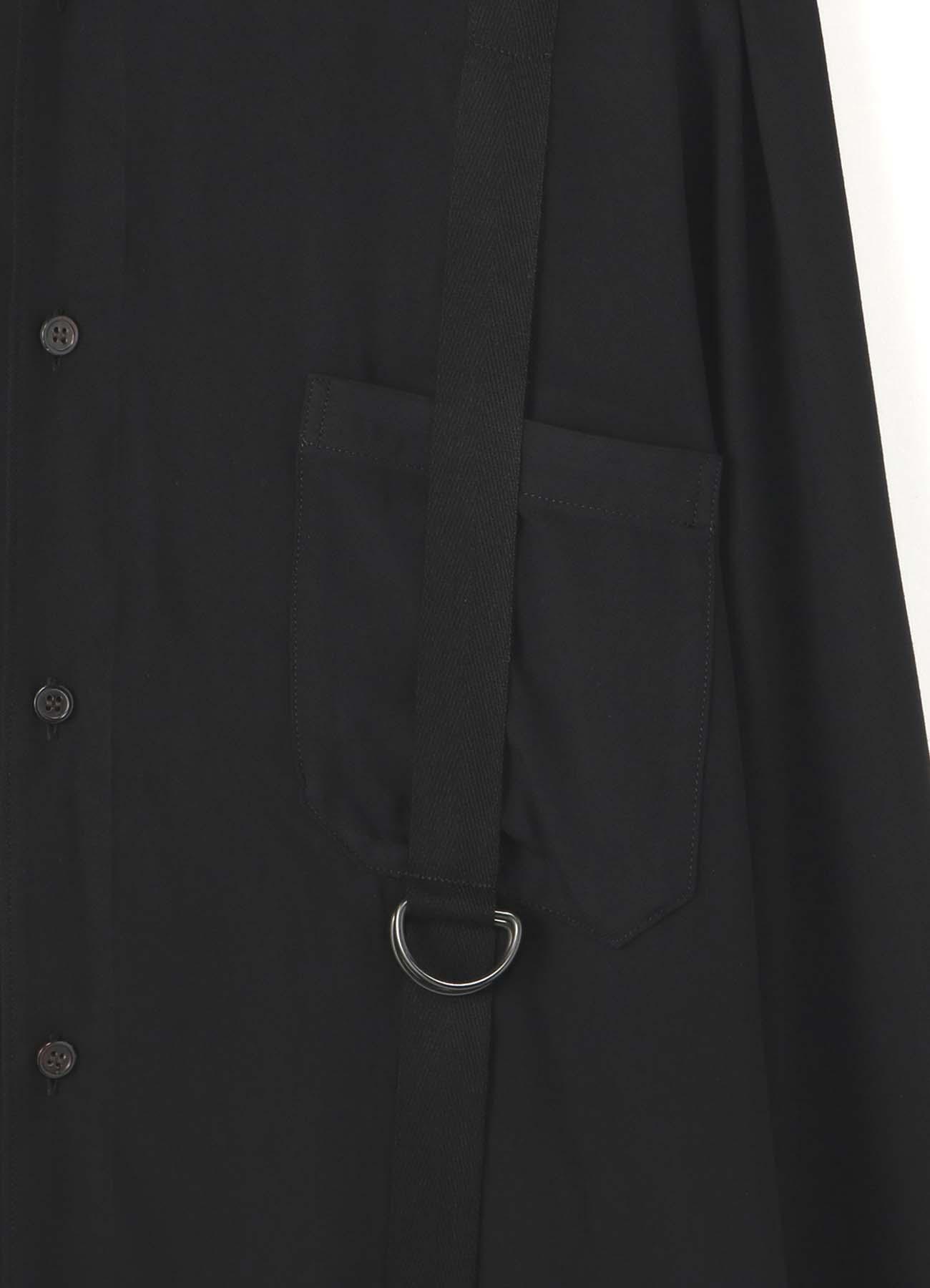 绑带装饰衬衫