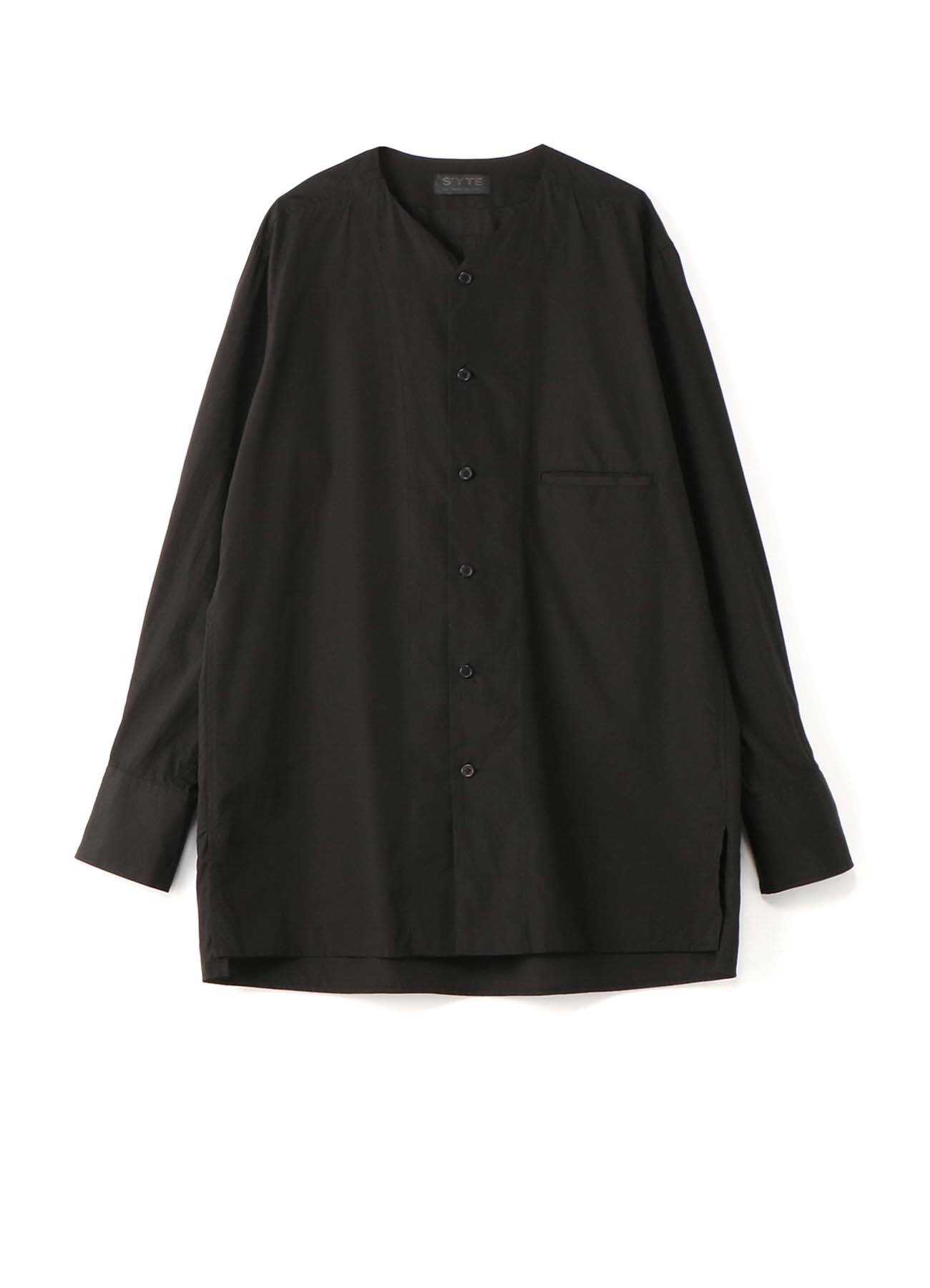 100/2 Broad No-Collar V-Open shirt