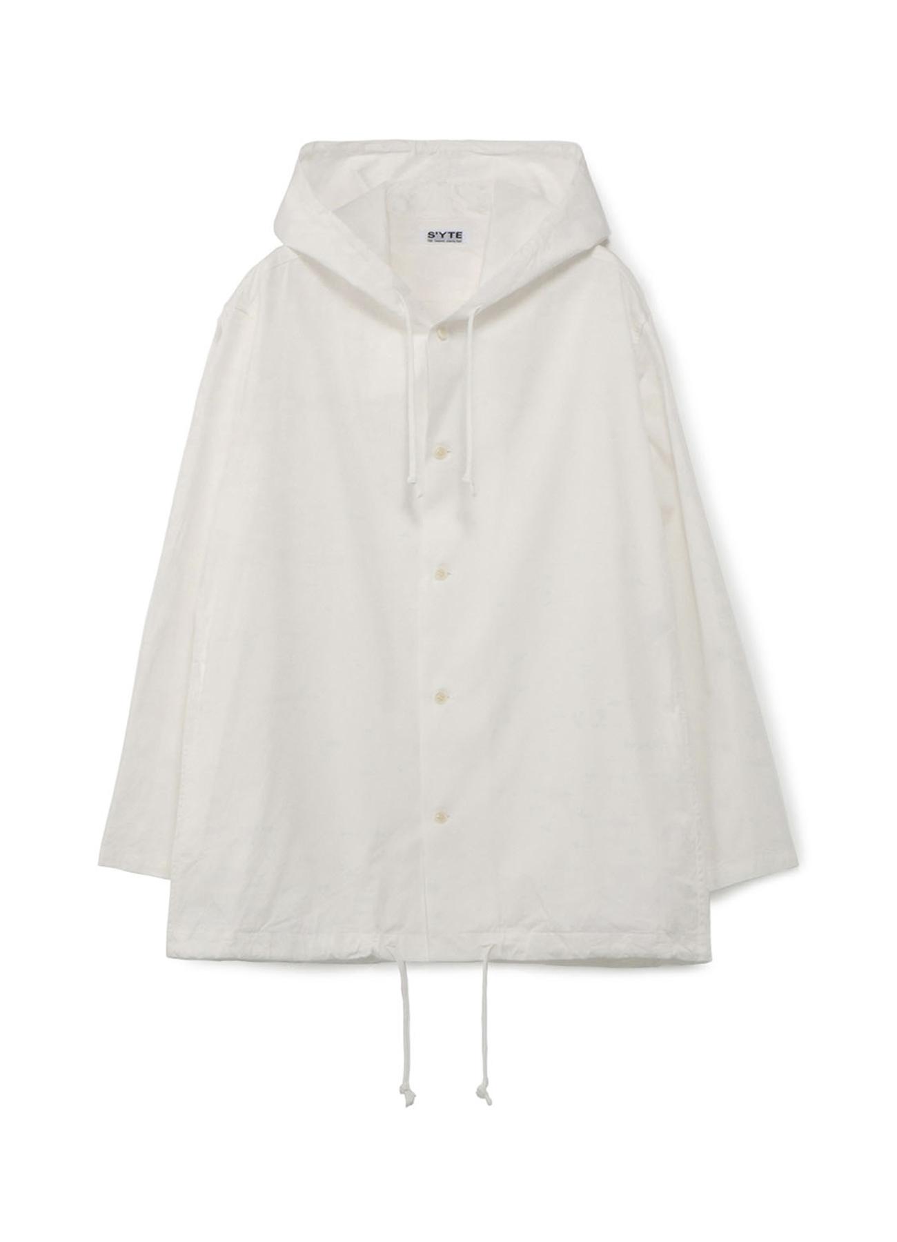 30s Combed Burberry Hem Cord Hood Shirt Blouson