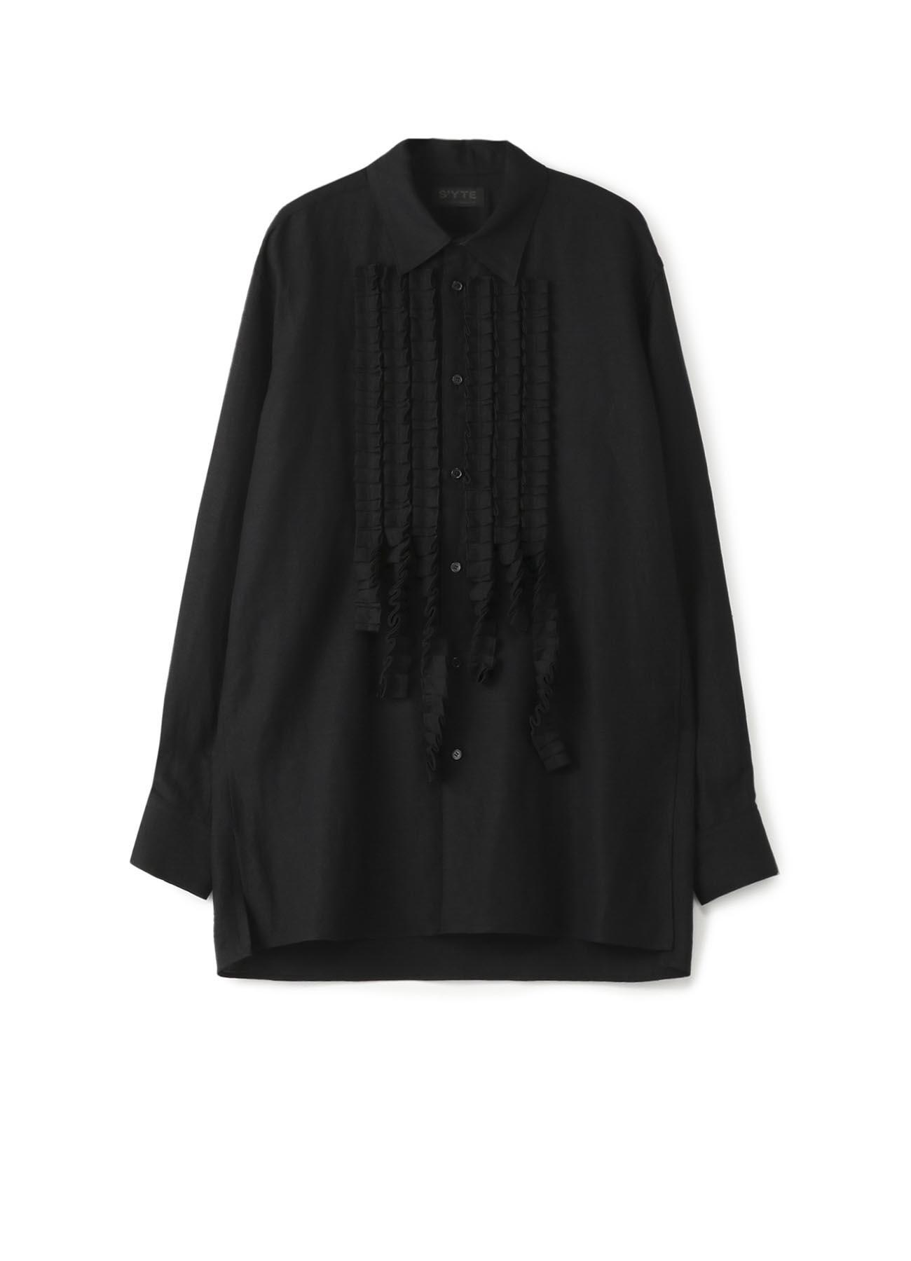 Rayon/Linen Bio Washer Fringe Frill Shirt