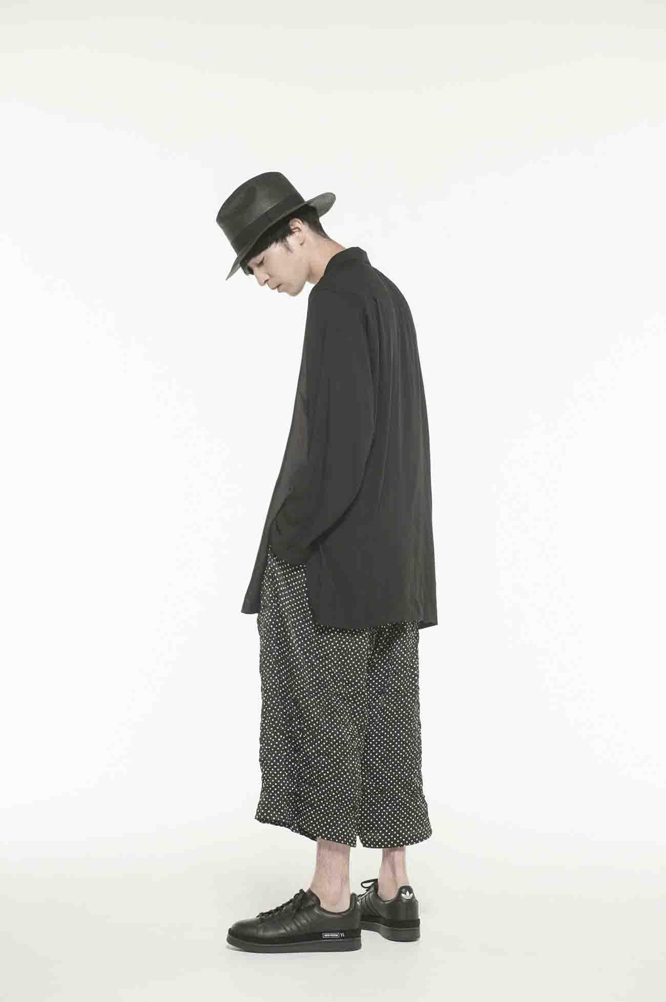 60s Ry/Span Twill/Cu Washer Ethnic Wrap Shirt
