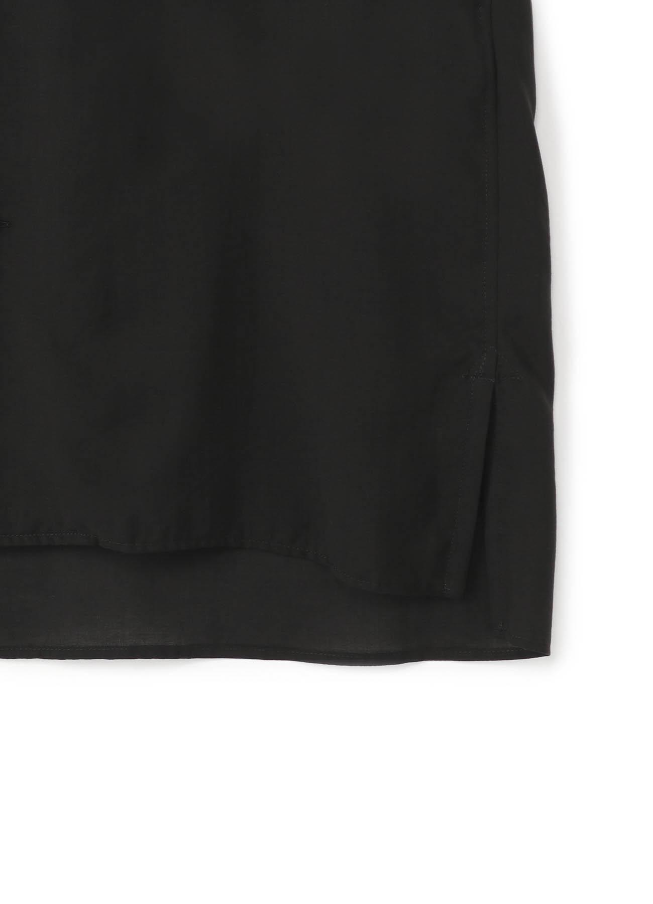 西装领天丝短款衬衫