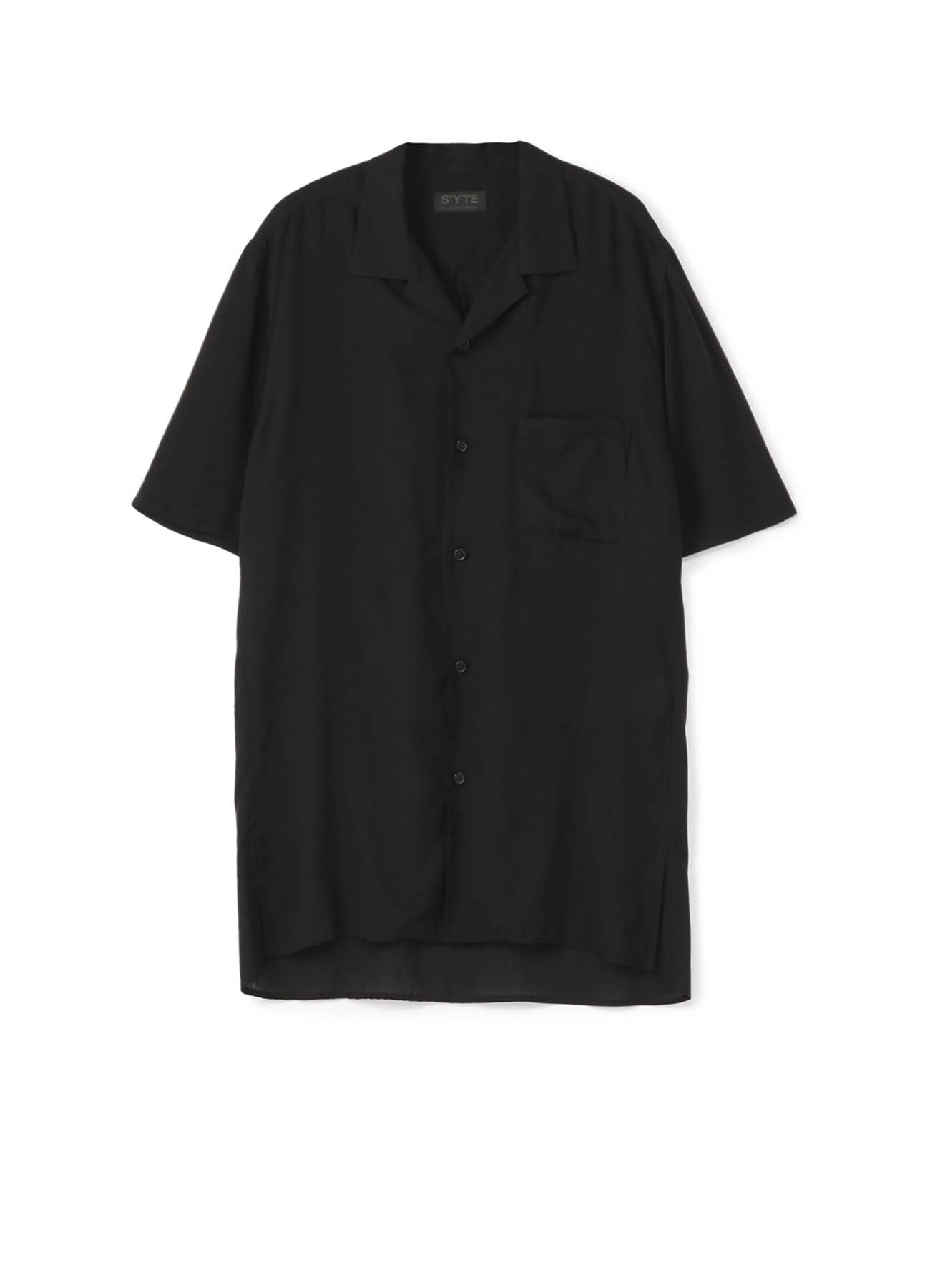 Tencel /Loan Open Collar Short Sleeve Shirt