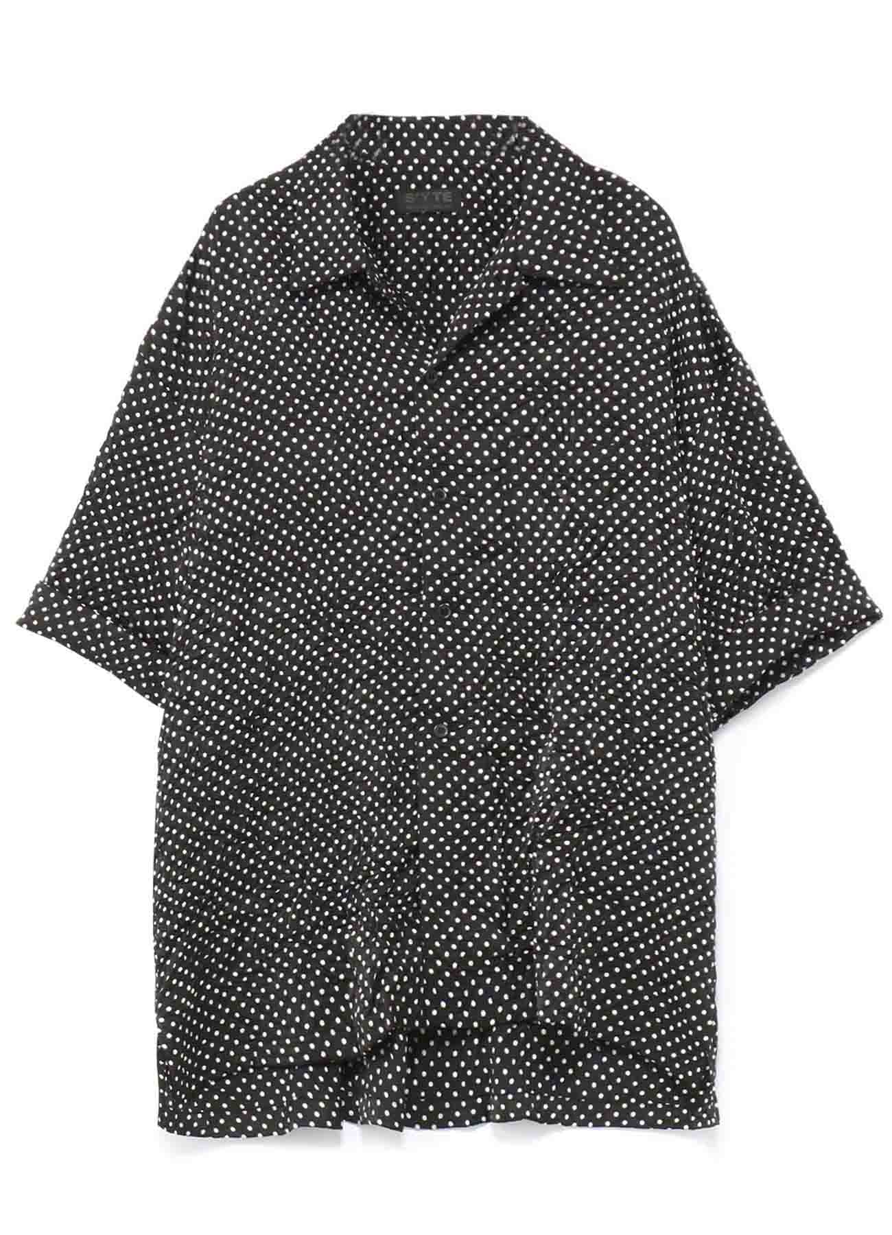 Pe/Dot Wrinkles Big Short Sleeve Shirt