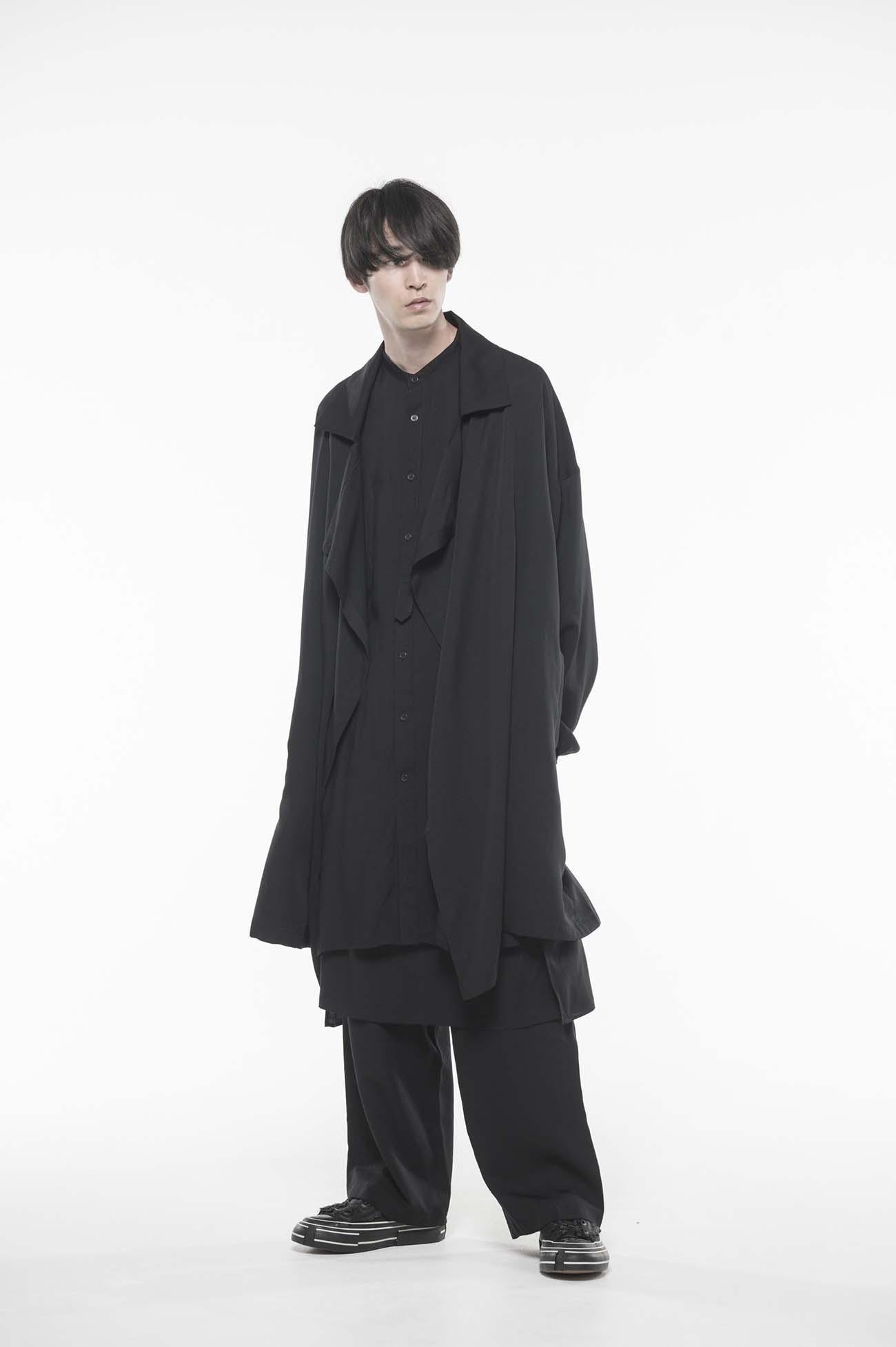 Tencel /Burberry Frame Double Collar Drape Coat
