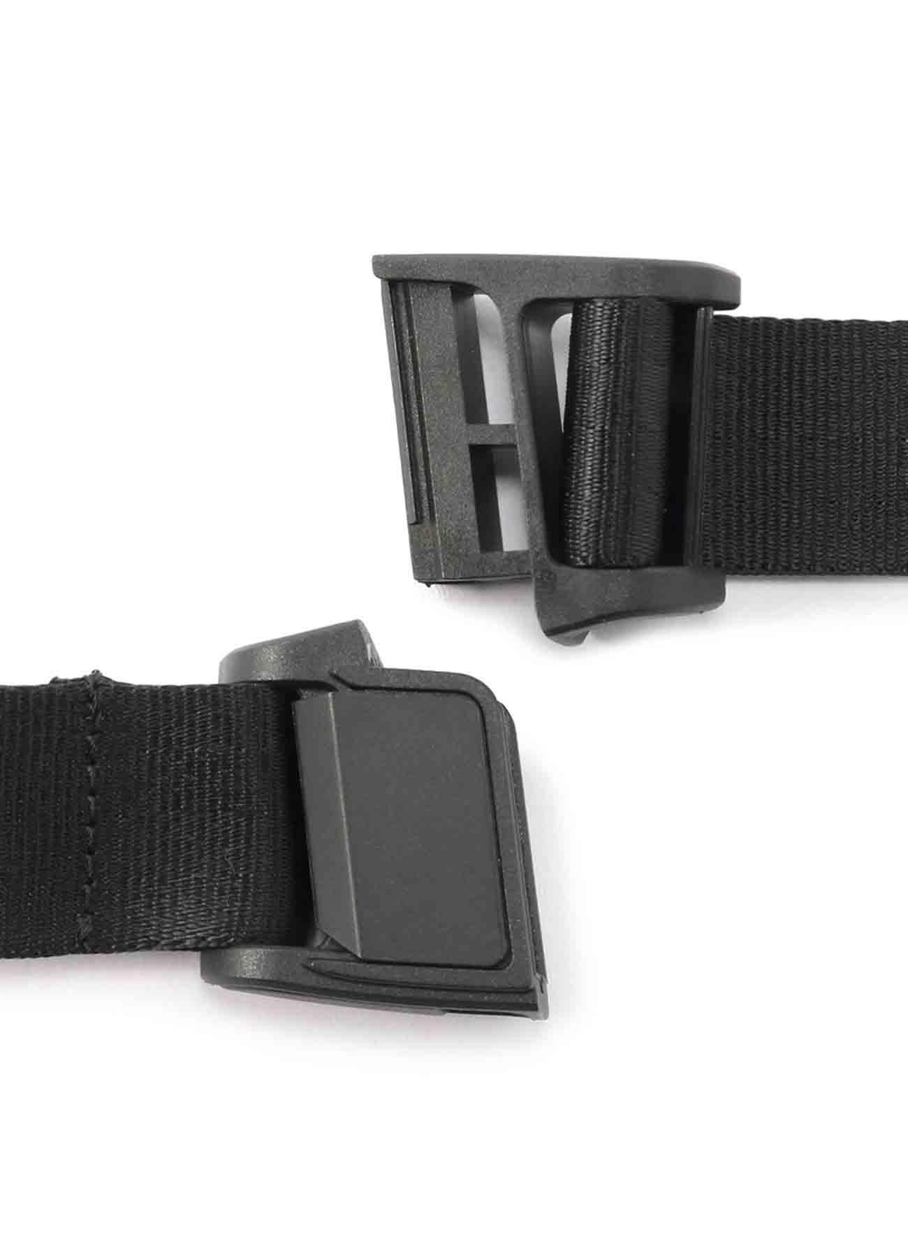 Magnetic Buckle Nylon Long Logo Belt