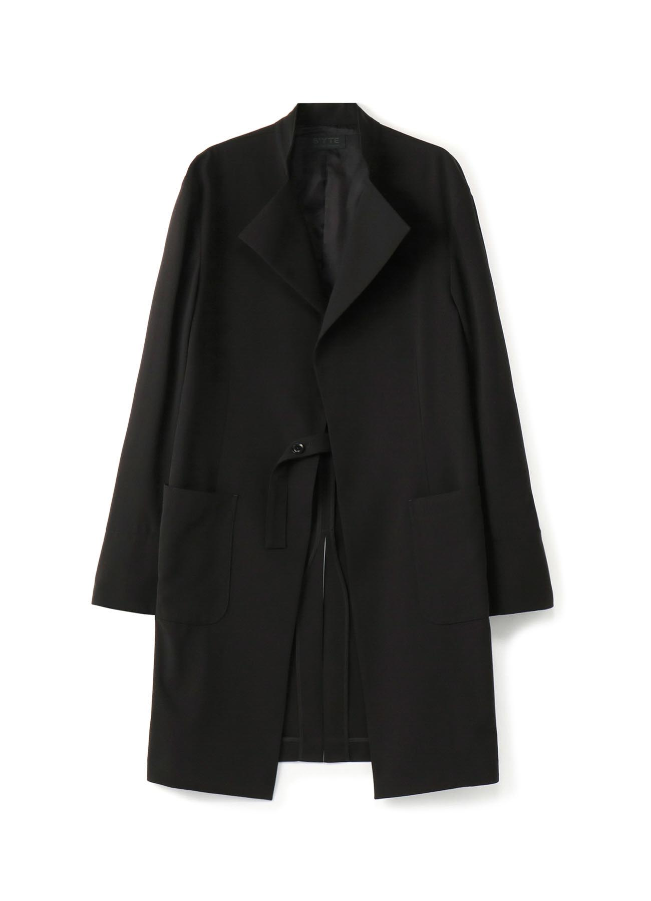 Pe/Rayon Gabardine Upper Collarless Long Jacket