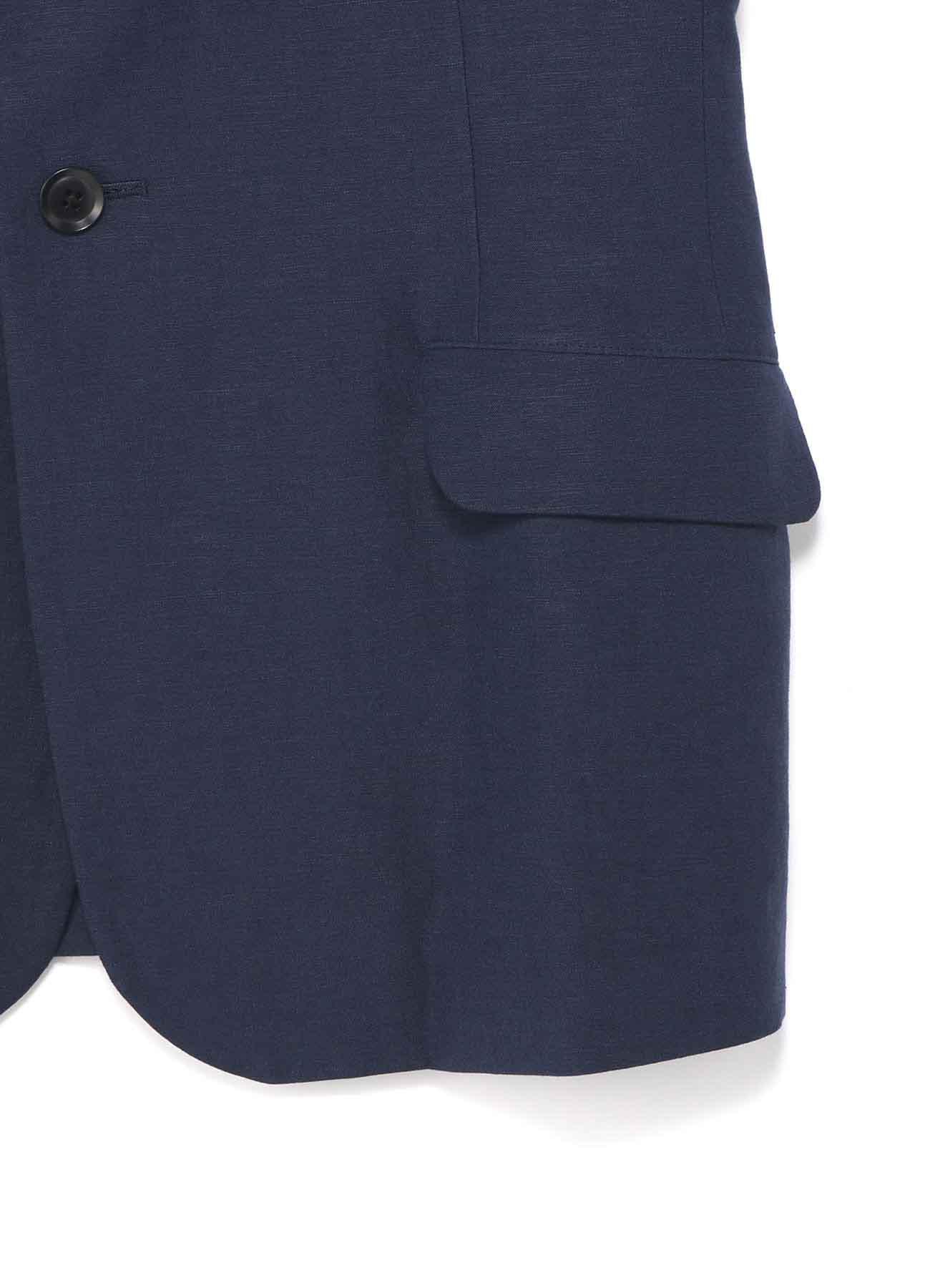 人造丝亚麻混纺 · 拼接袖口修身夹克