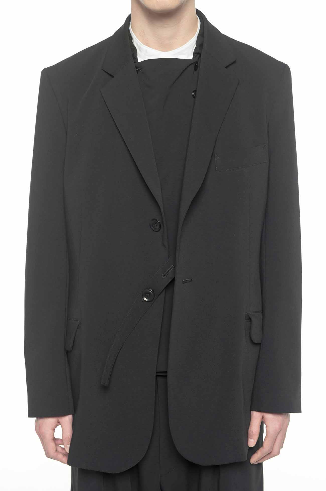 Pe/Rayon Gabardine 2BS slim jacket