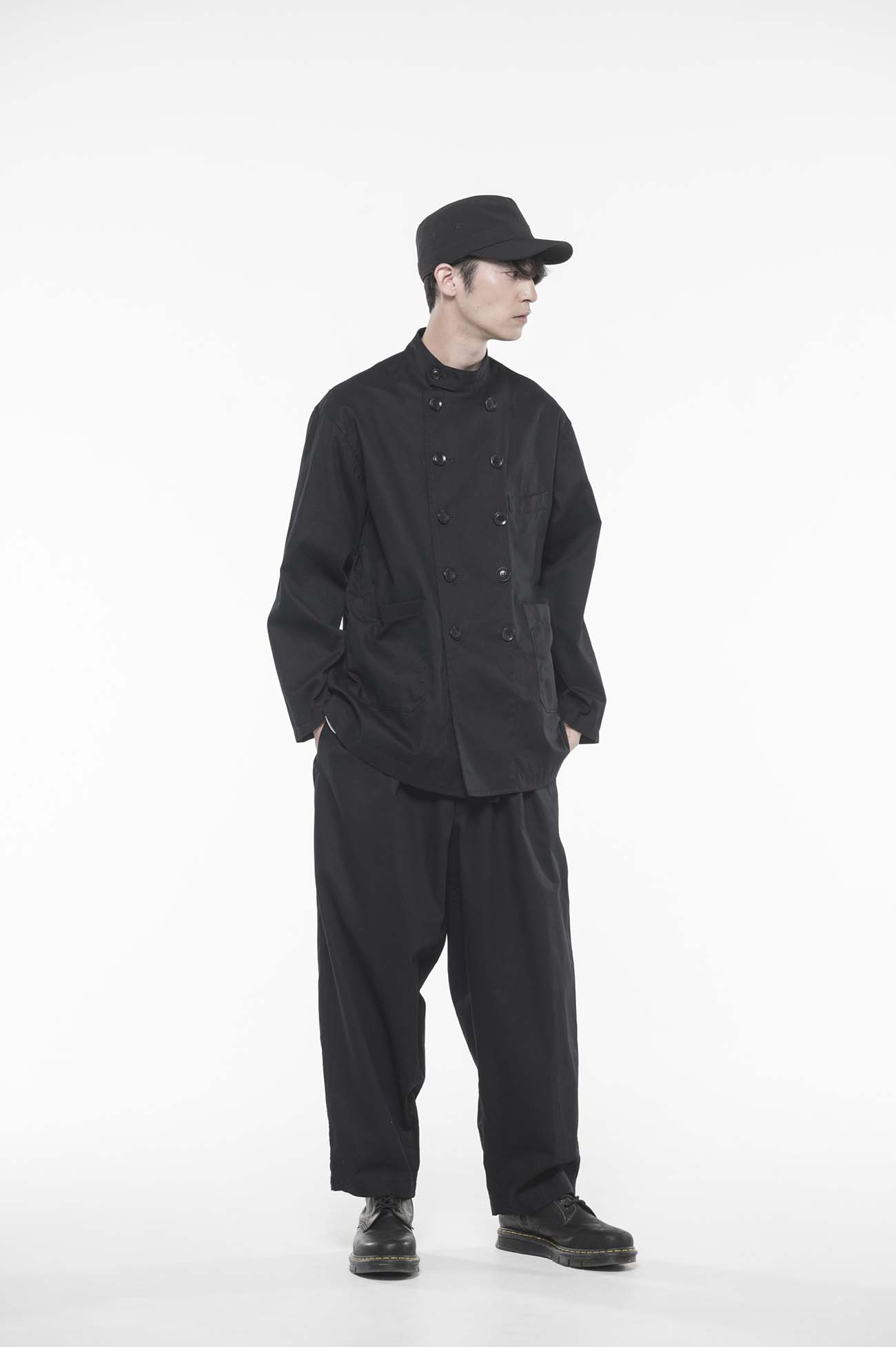 20/Cotton Twill Washer Cook Shirt Jacket
