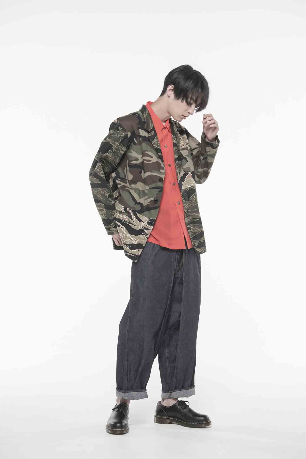 Crazy Camouflage 3BS Tailored Shirt Jacket