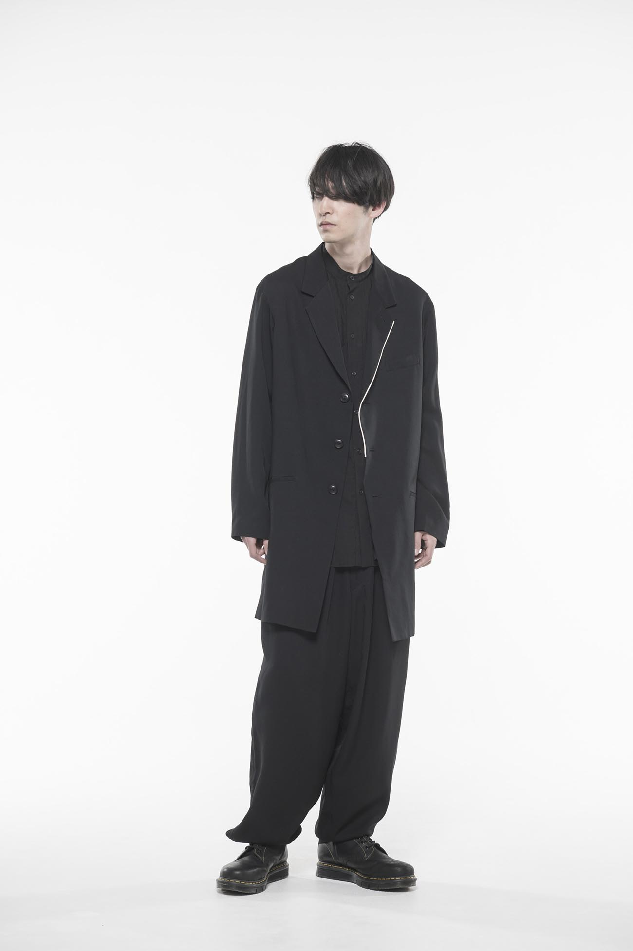 Tencel /Burberry Piping 3BS Long Jacket