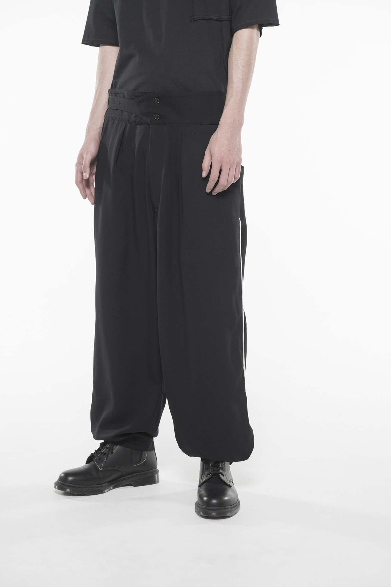 天丝单侧裤线Gurkha长裤