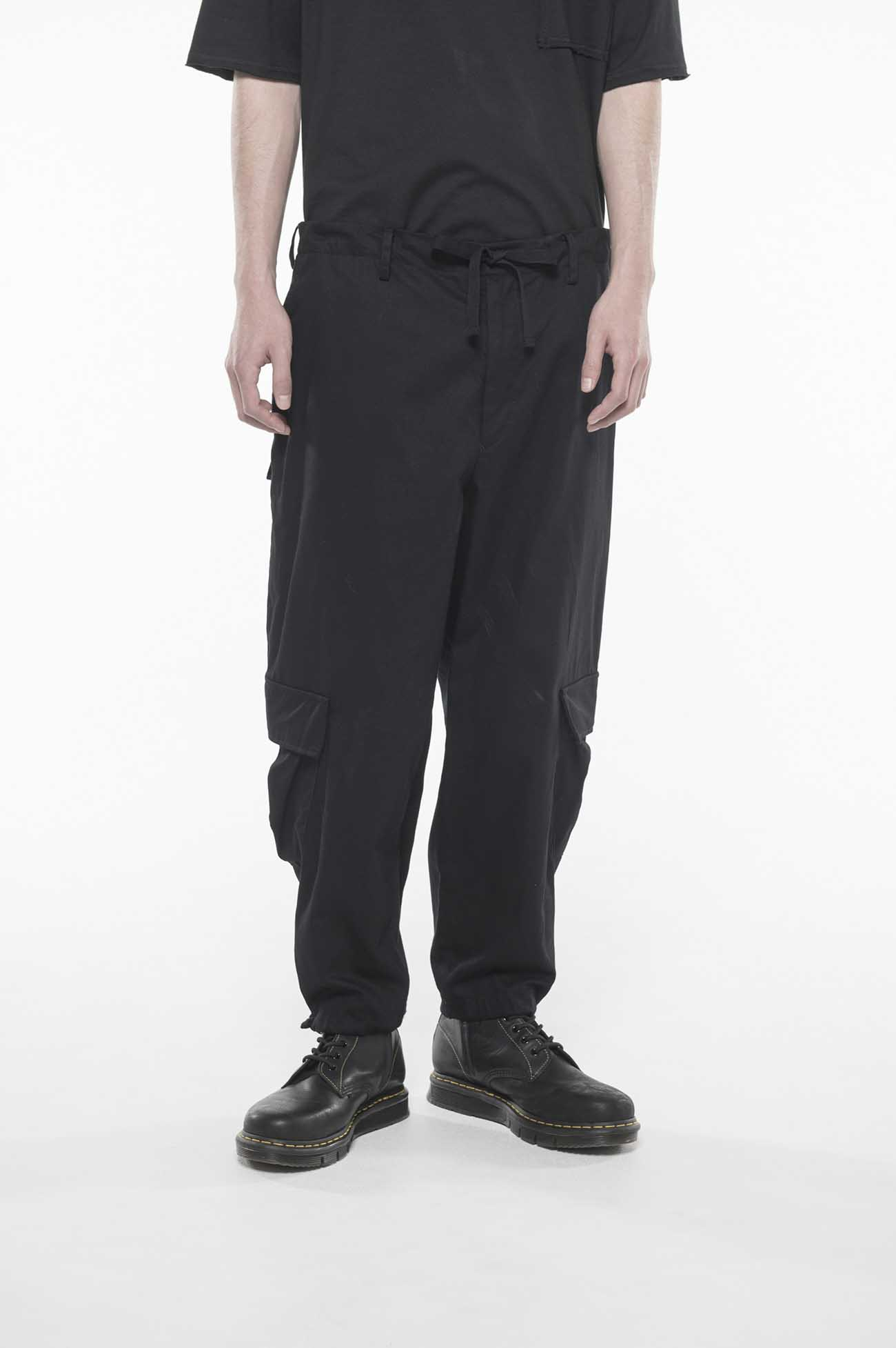 20/Cotton Twill Washer Wide Cargo Pants