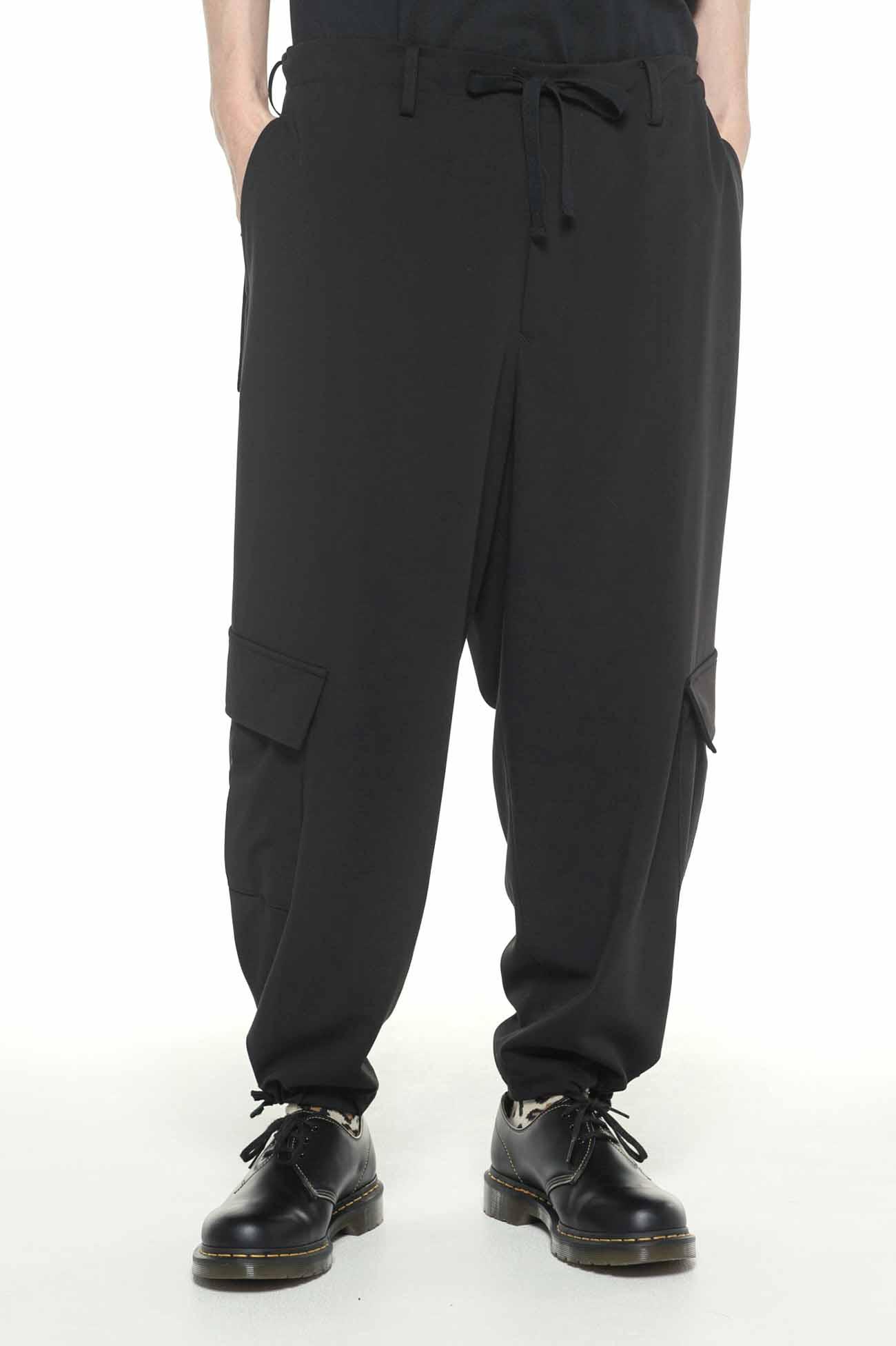 人造丝混纺口袋工装裤