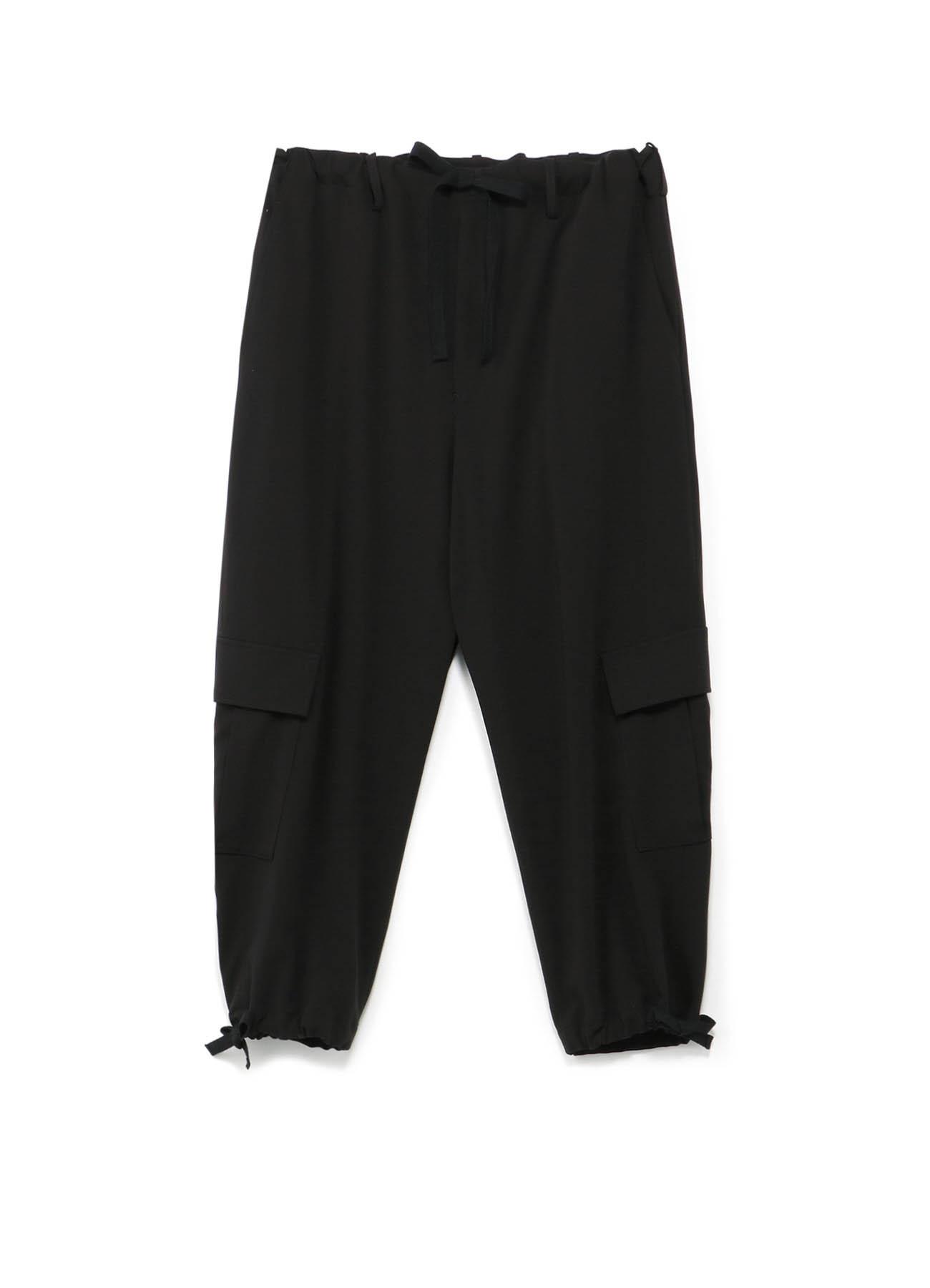 Pe/Rayon Gabardine Wide Cargo Pants