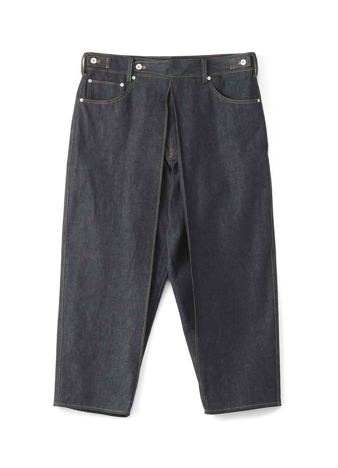 10 oz Denim Center Wide Tuck Pants