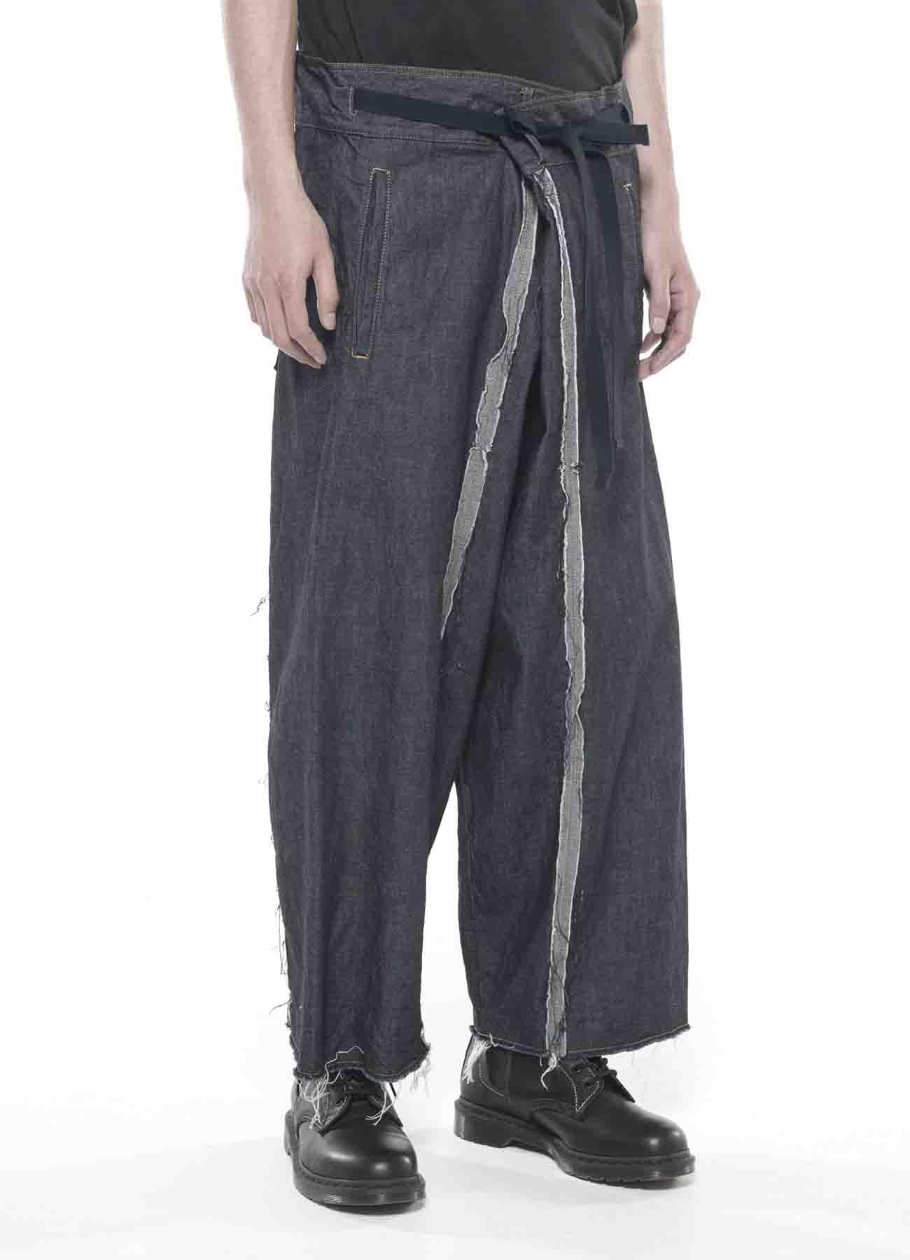 10 oz Denim Waist Fold Wide Pants