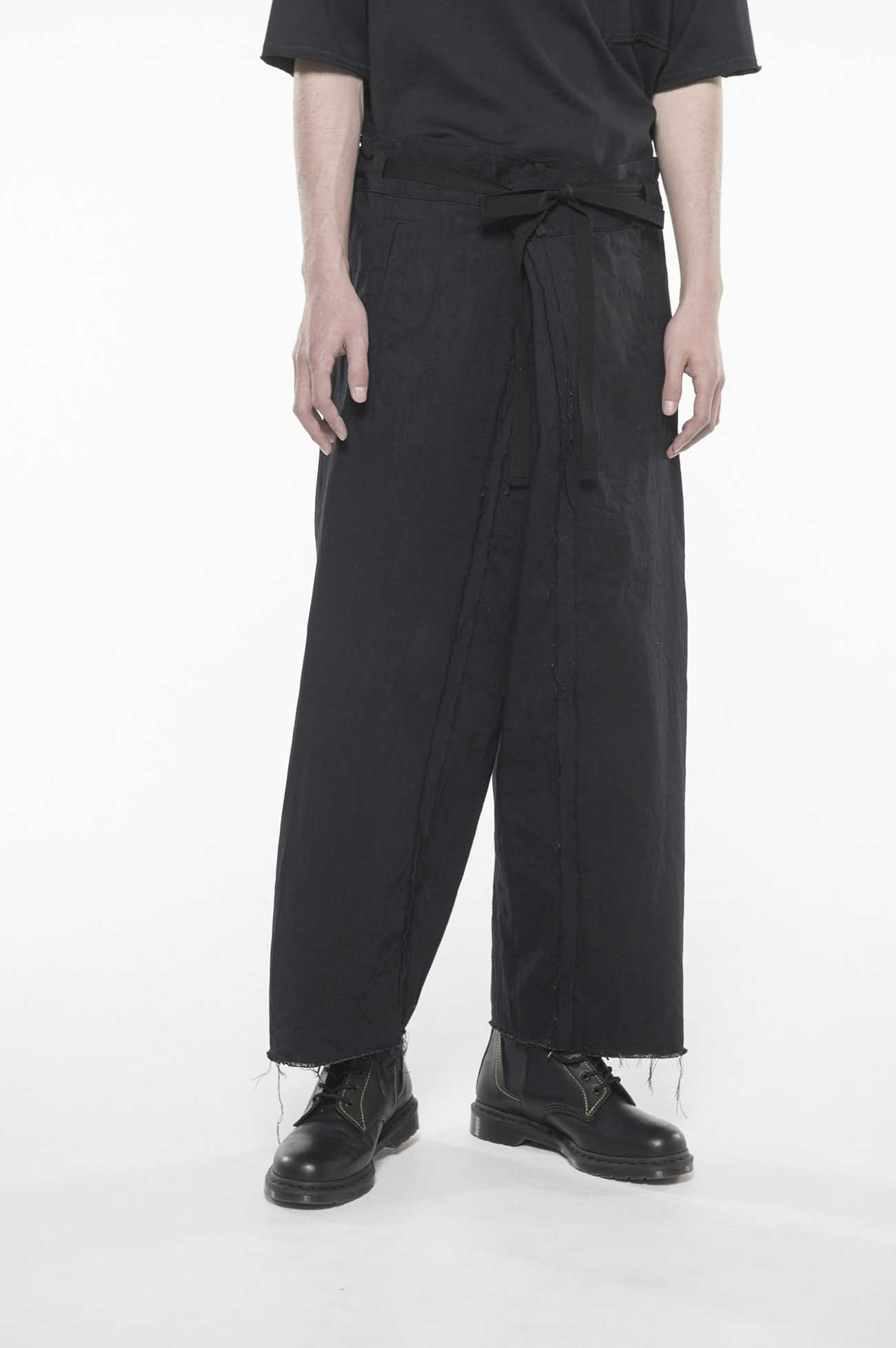 10 oz Denim Waist Fold Wide Pants