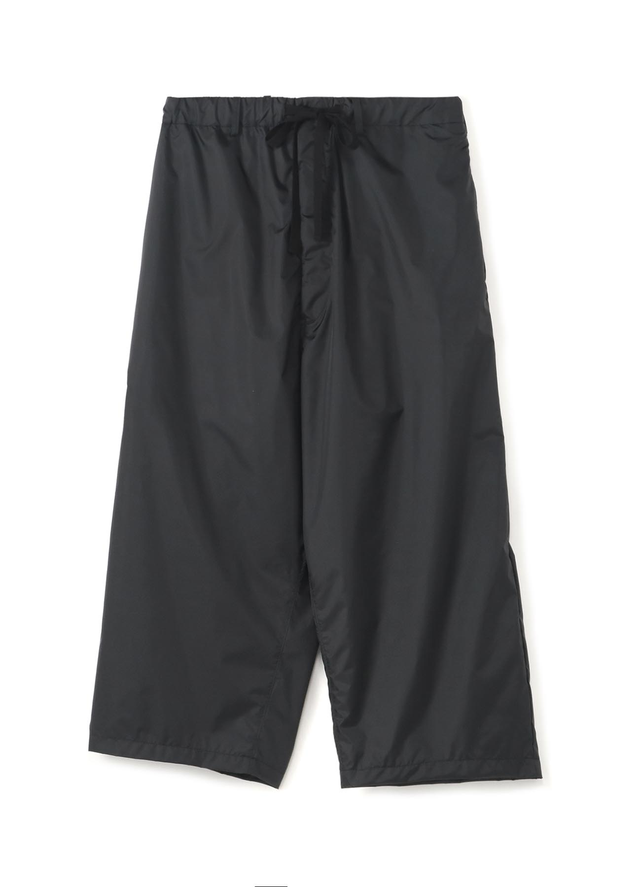 Nylon Taffeta Mesh NoTack Cropped Easy Wide Pants