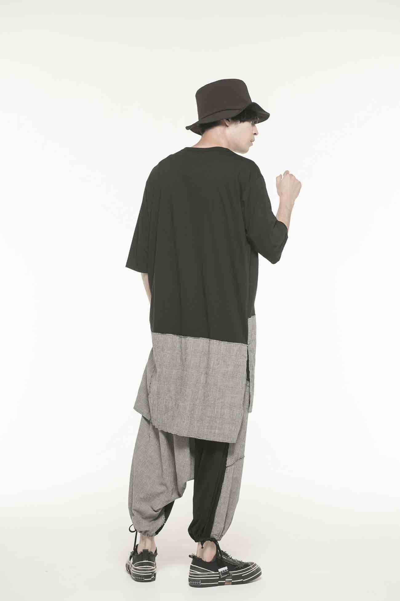 C/Lyocell Jersey Patchwork Balloon Saruel Pants